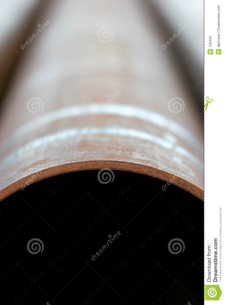 Vertical steel pipe abstract