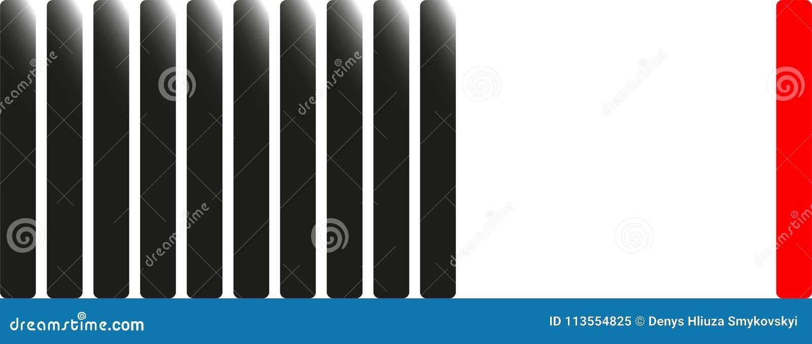 vertical stripes illustration on a theme teamwork stock
