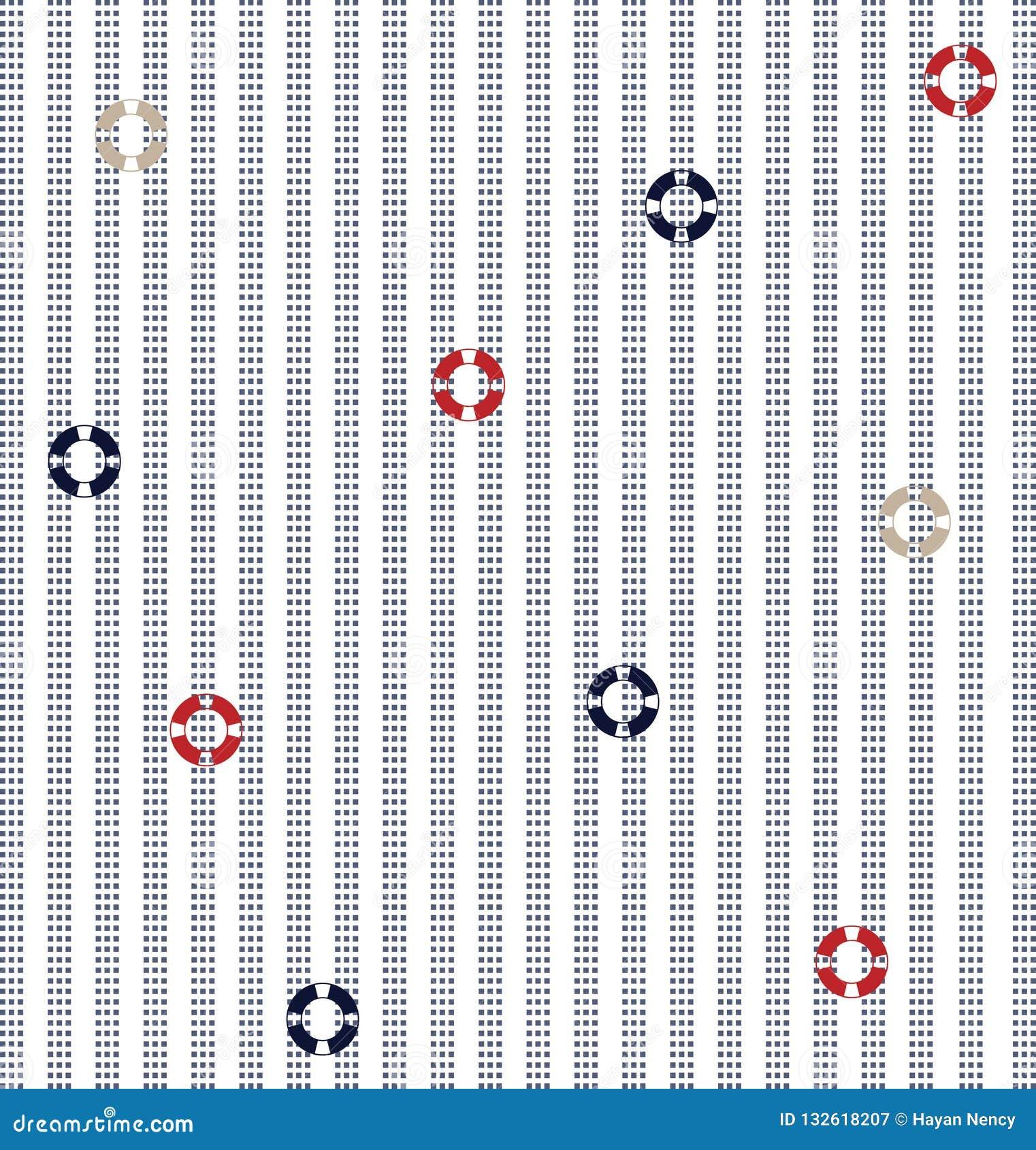 Vertical stripes pattern on dot