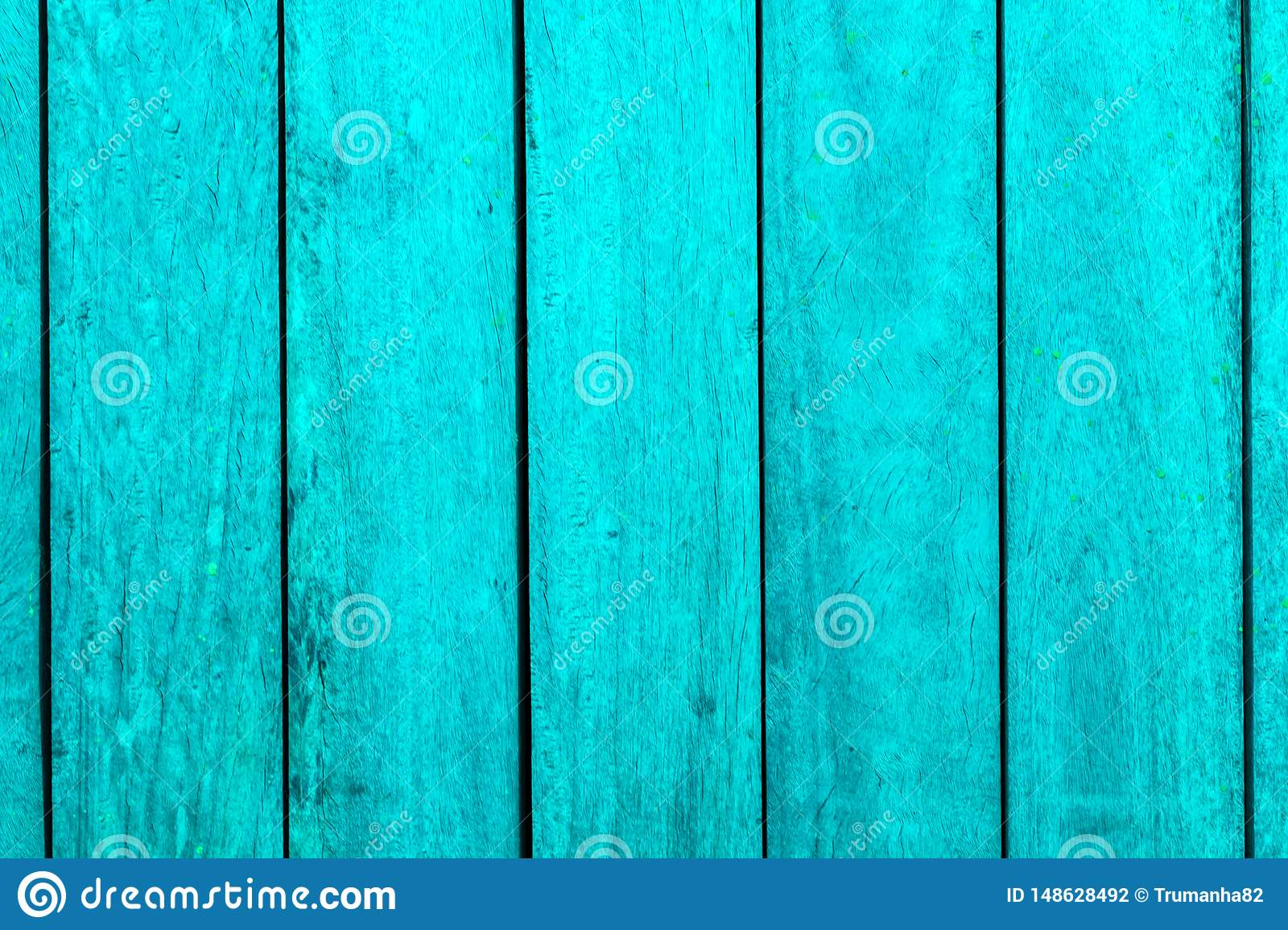 Vertical Turquoise Wooden Bars Texture Background