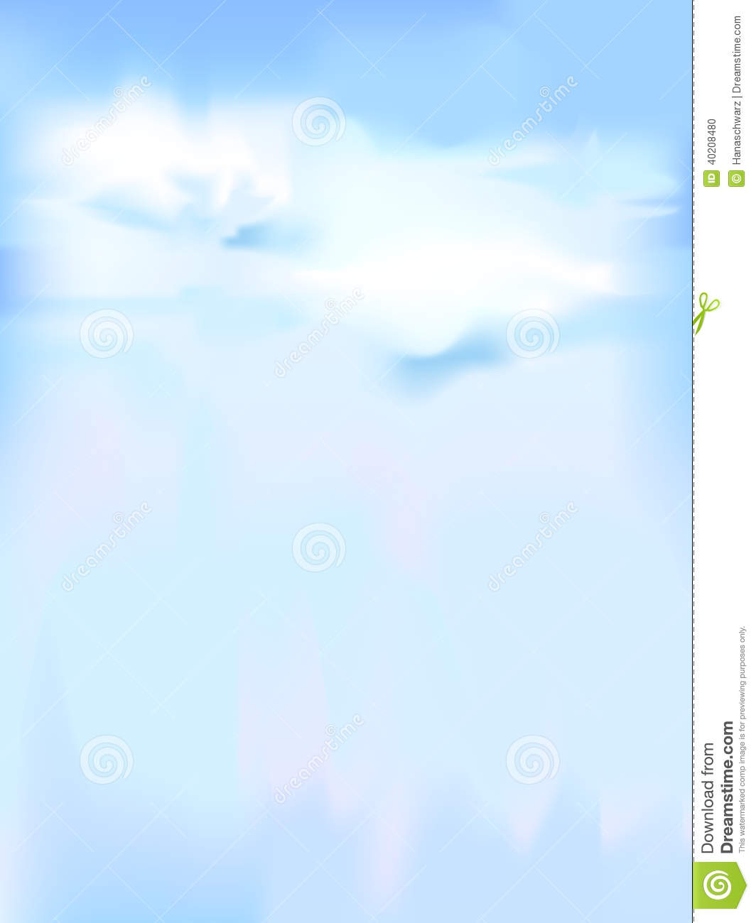 Vertical Vector Sky - Blue Abstract Background Stock