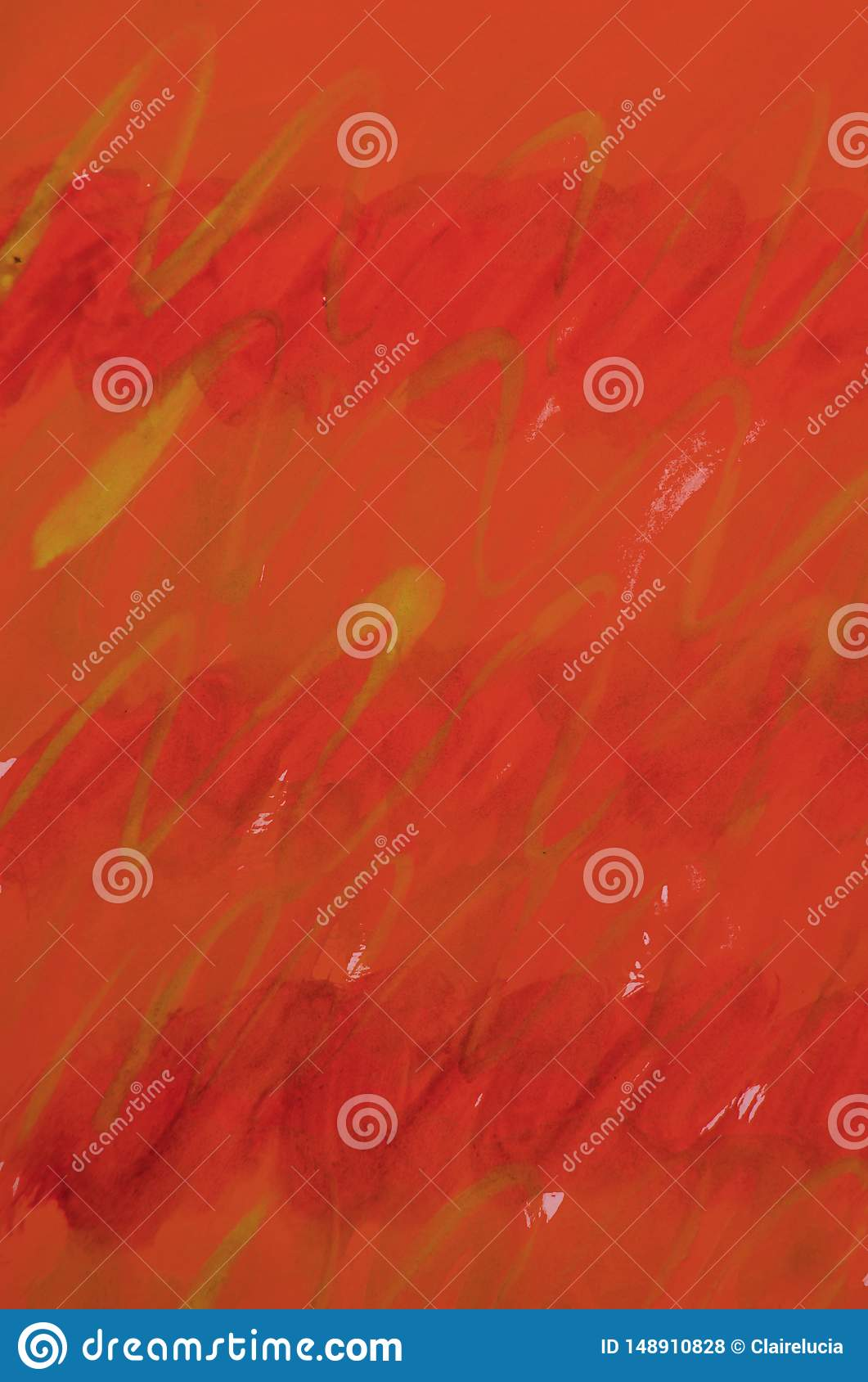 Vertical watercolor raster festive gradient red background with stripes of smooth lines for layout and cover design