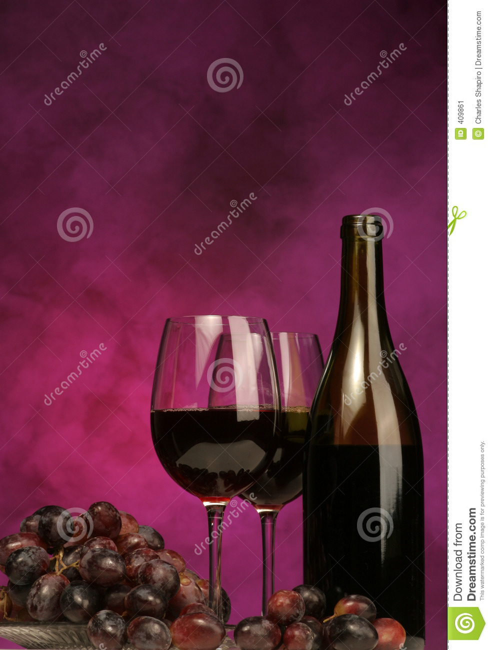 vertical of wine bottle with glasses and grapes stock image image 409861. Black Bedroom Furniture Sets. Home Design Ideas