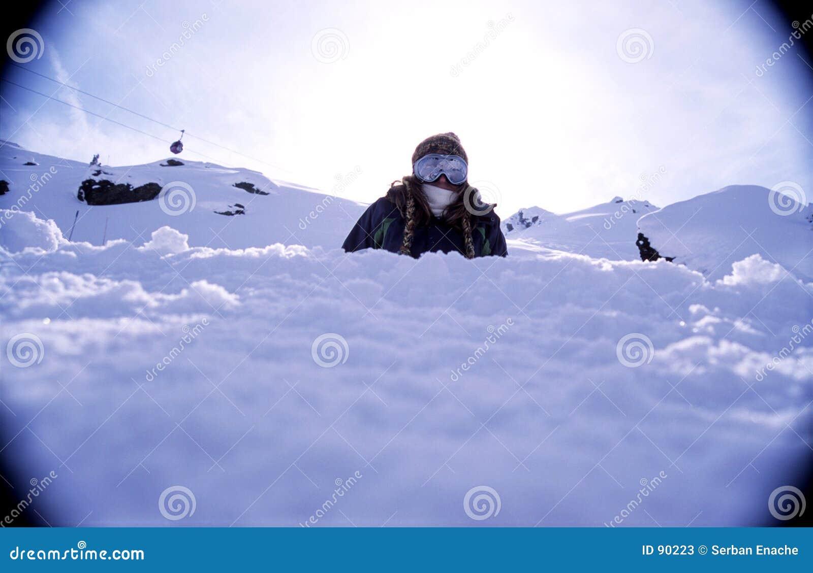 Verticale 2 de Snowboarder