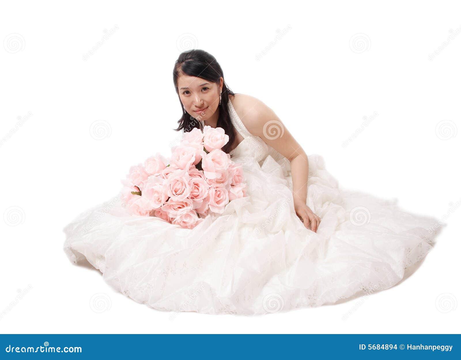 Verticale asiatique de mariée