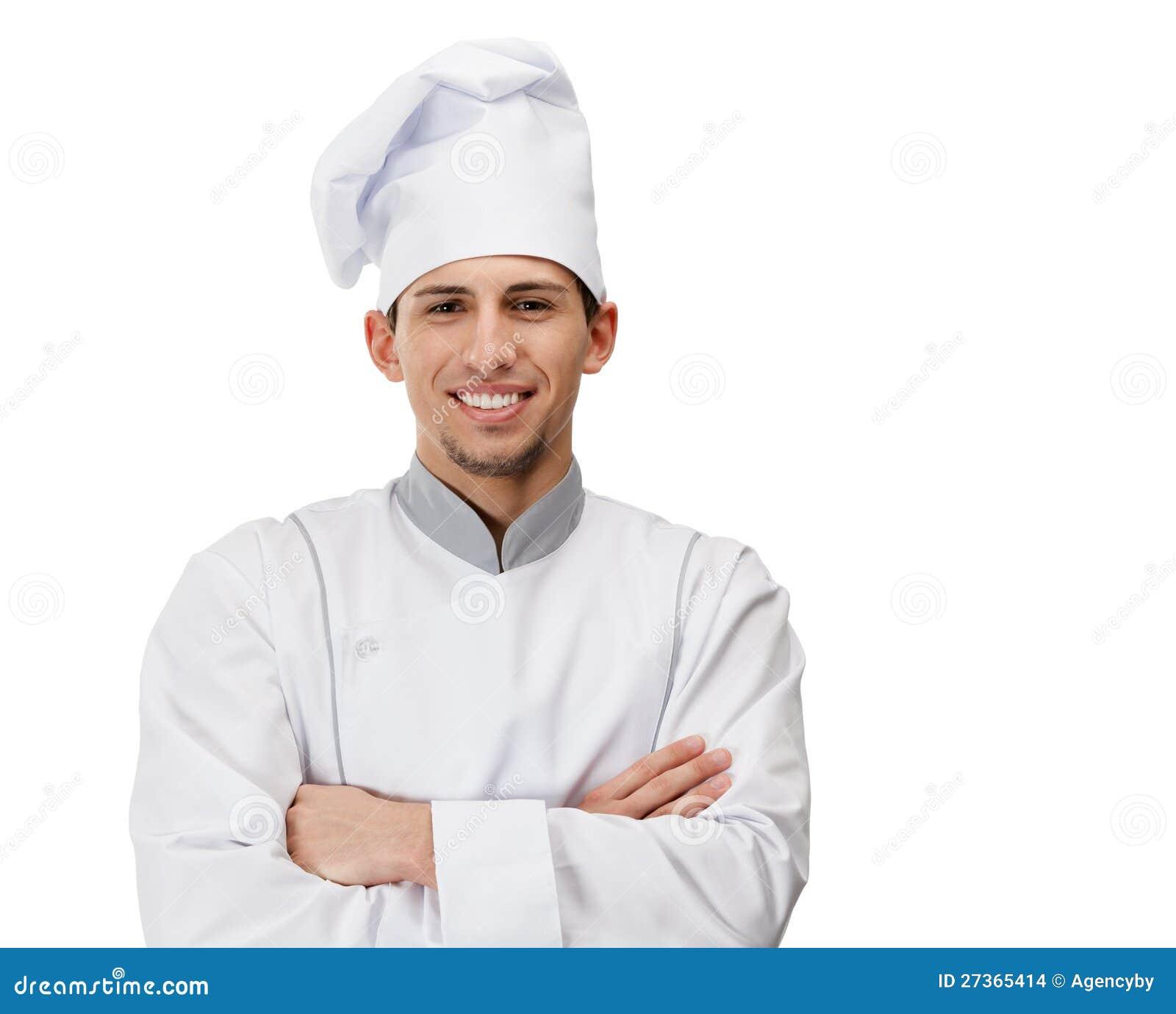 Verticale de cuisinier avec des bras crois s for Cuisinier bras