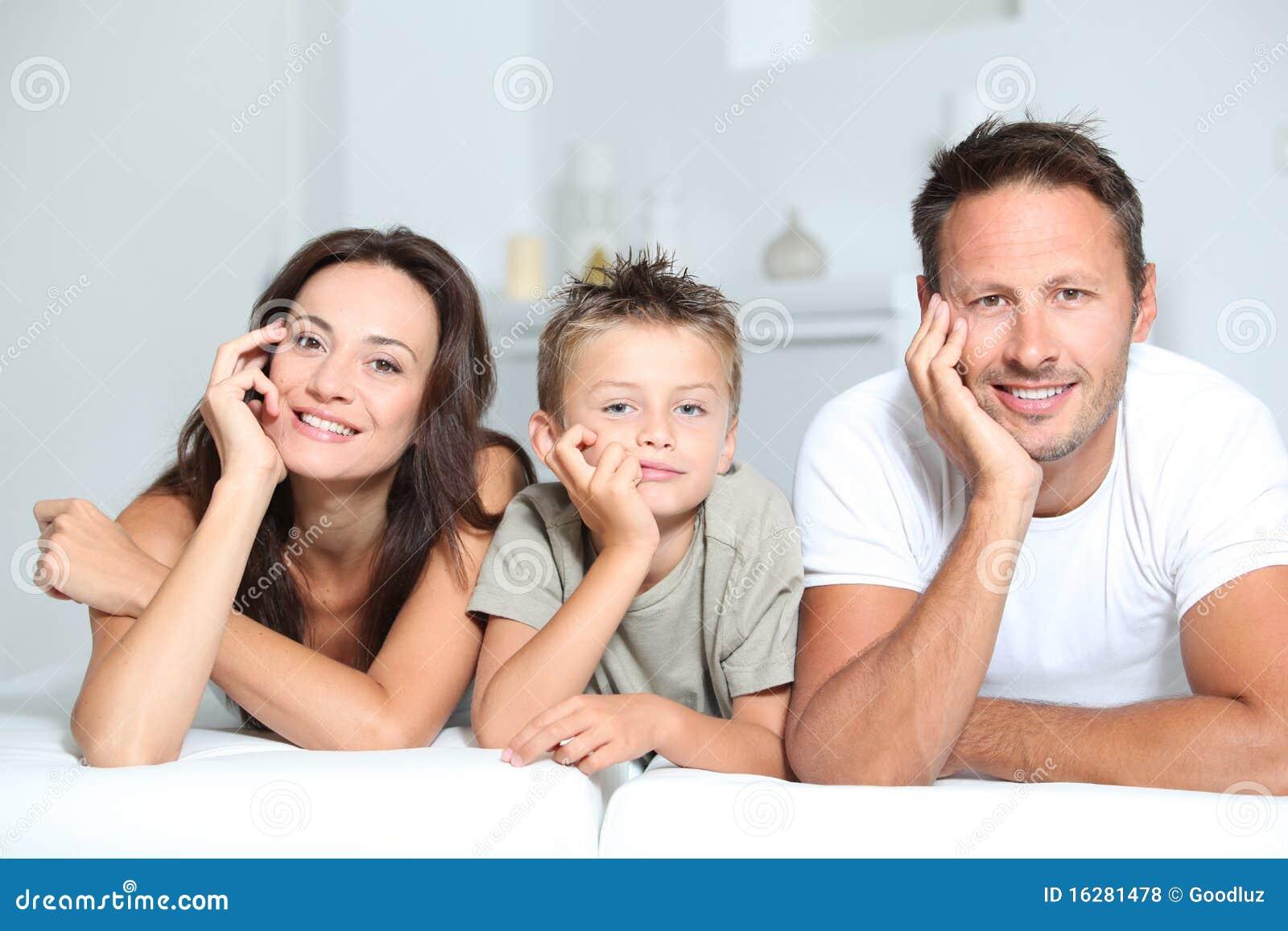 Verticale de famille à la maison