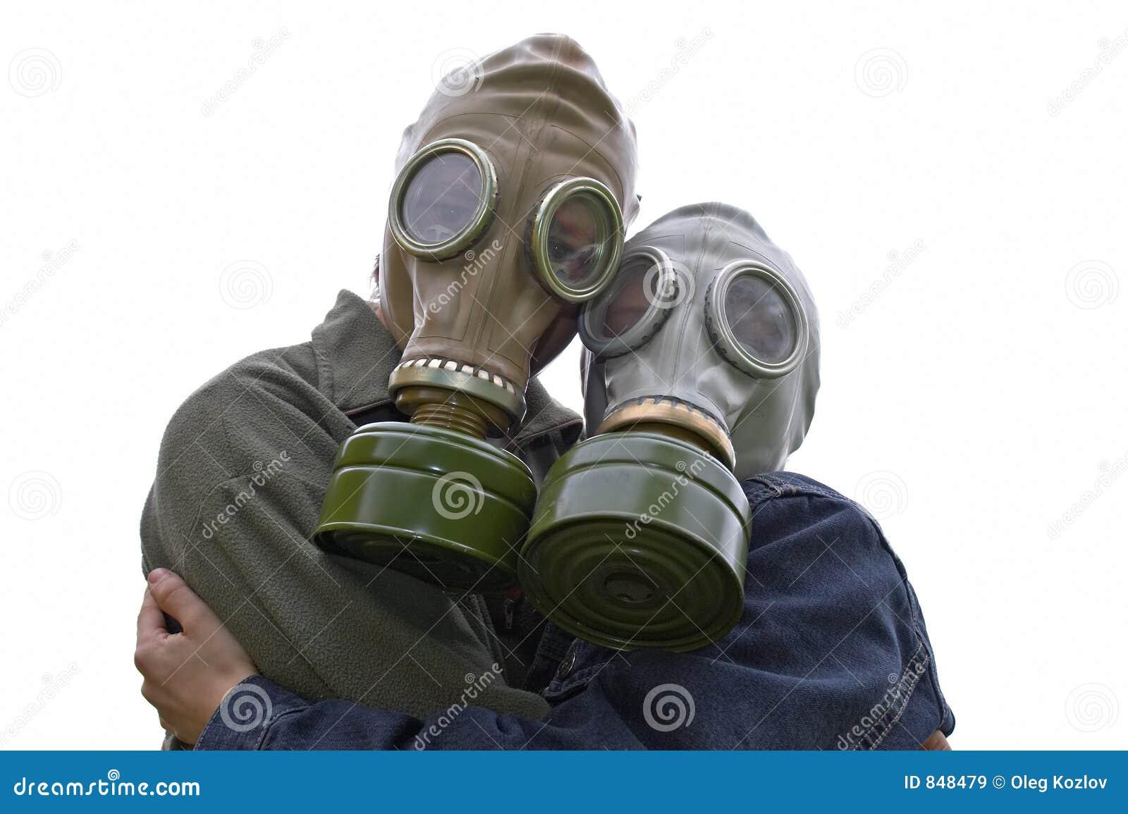 Verticale de famille dans les gaz-masques