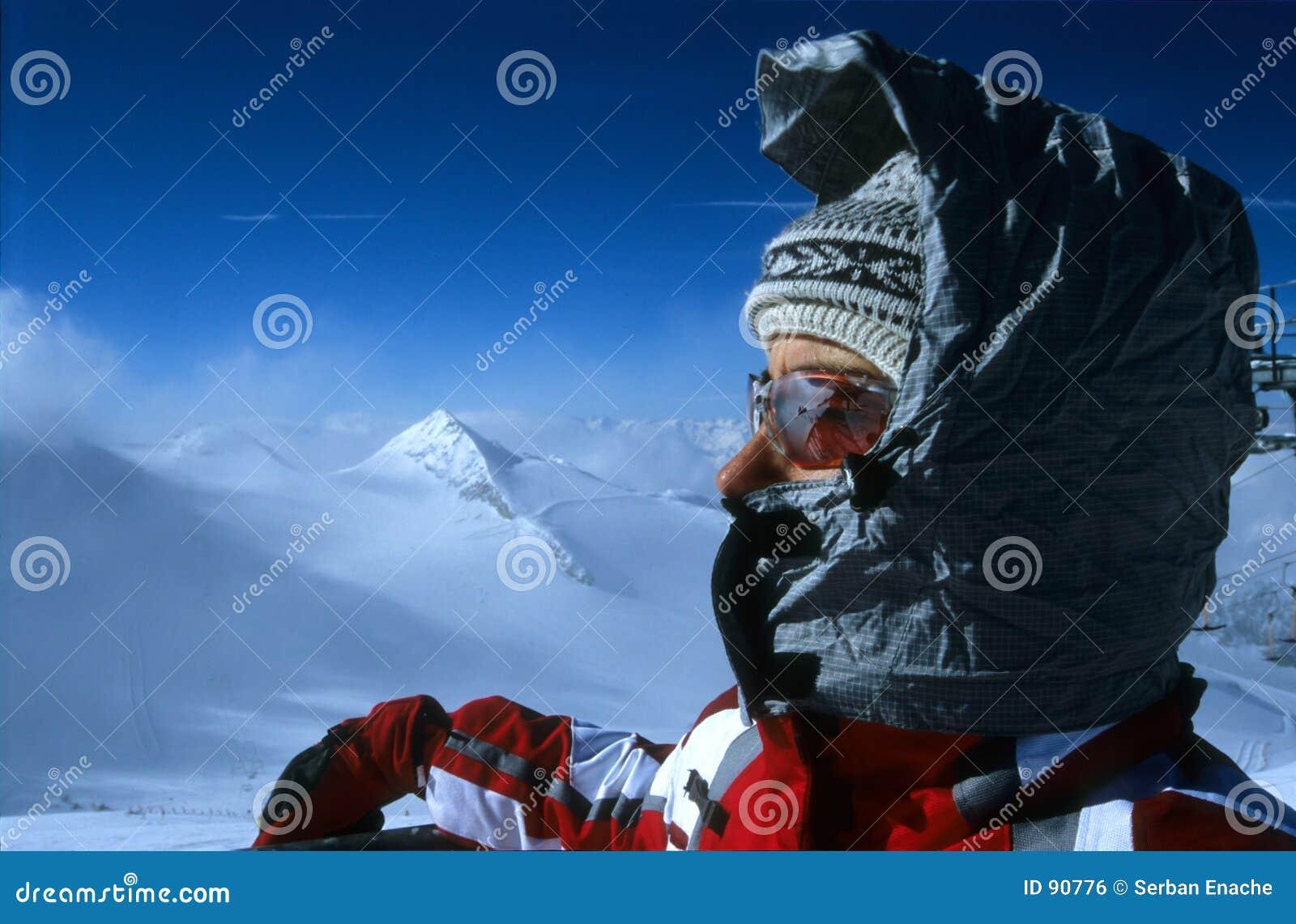 Verticale de skieur