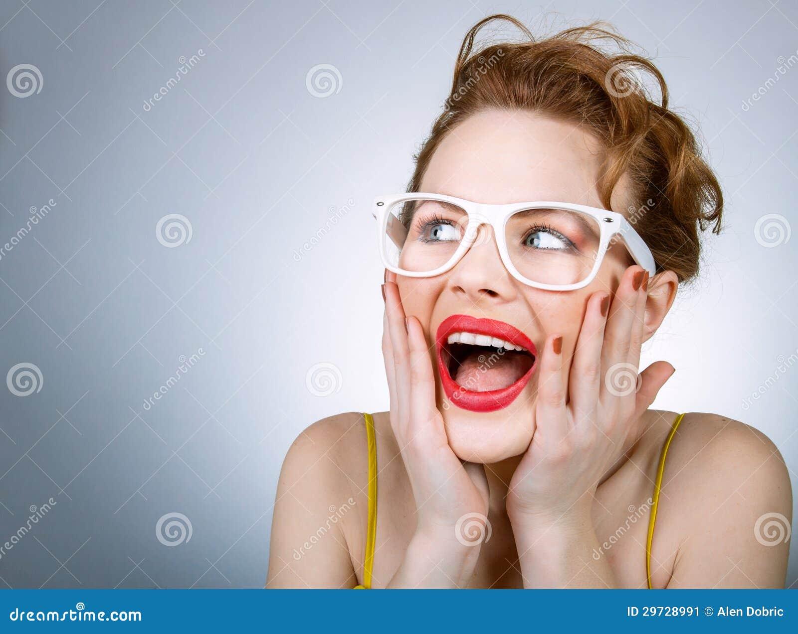 Femme expressive