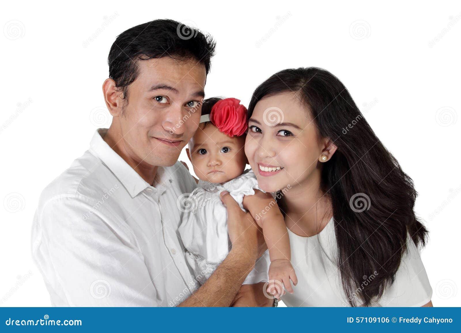 Verticale heureuse de famille