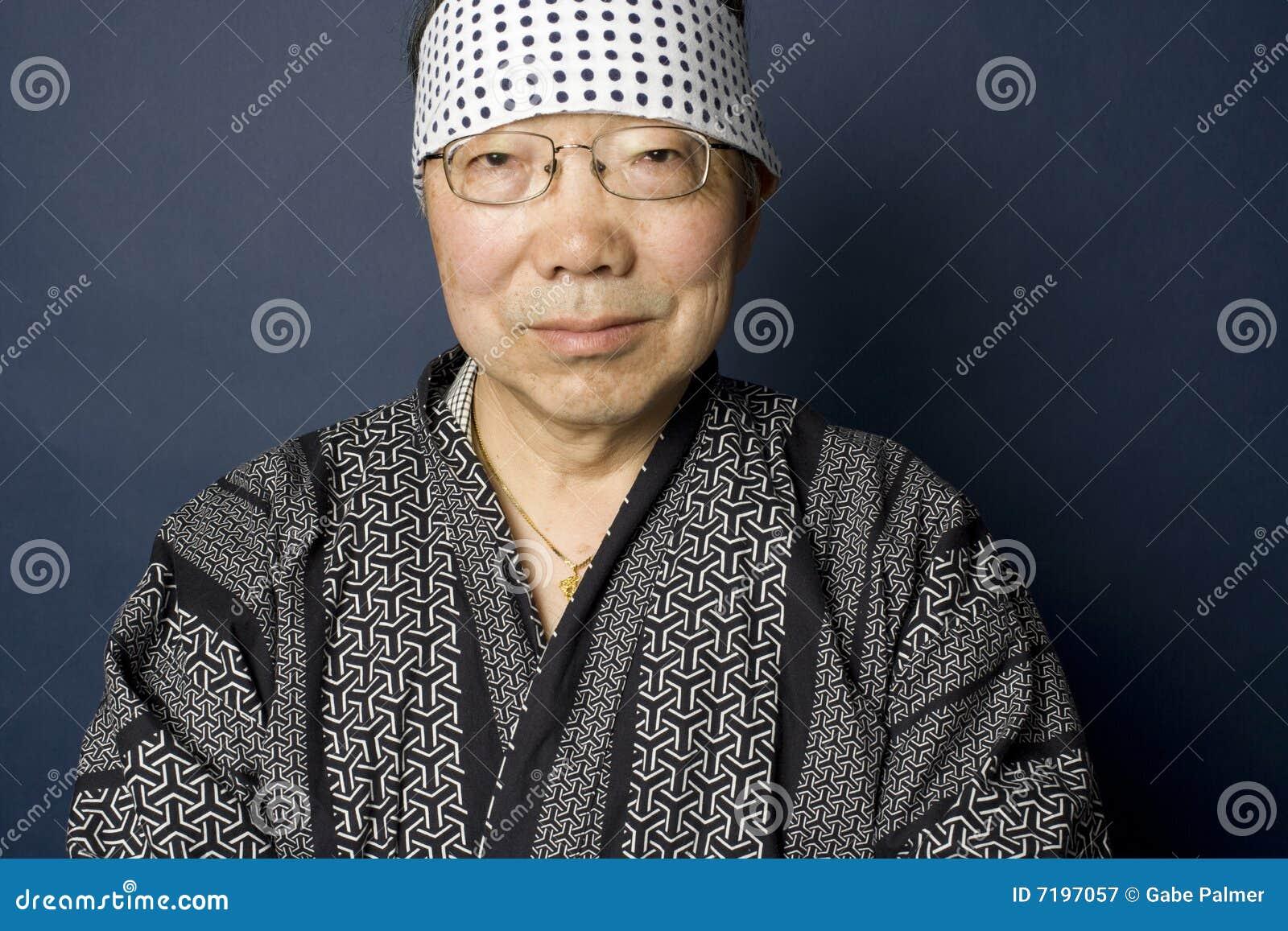Verticale japonaise aînée d homme