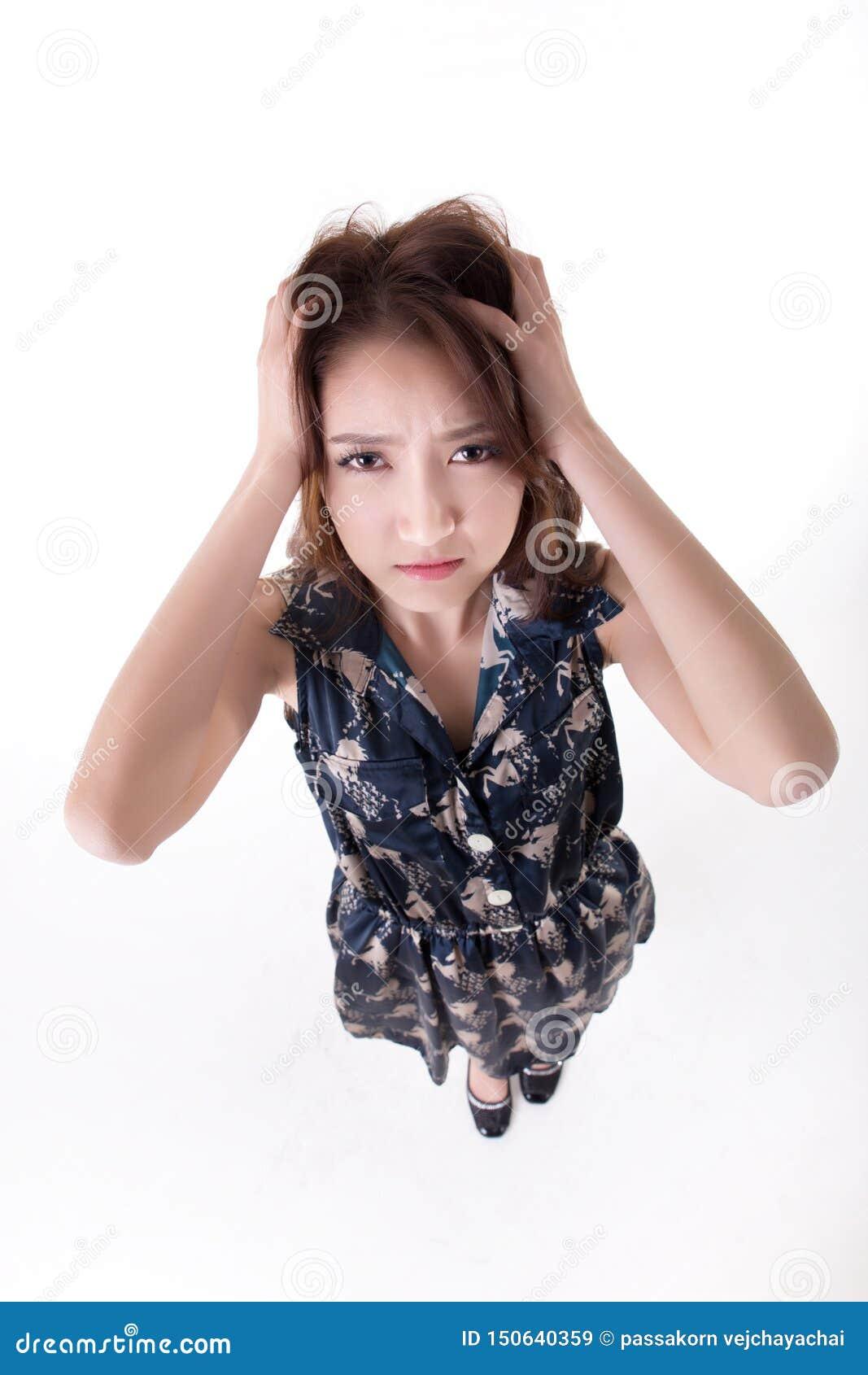 Verticale tha?e active asiatique de la verticale woman