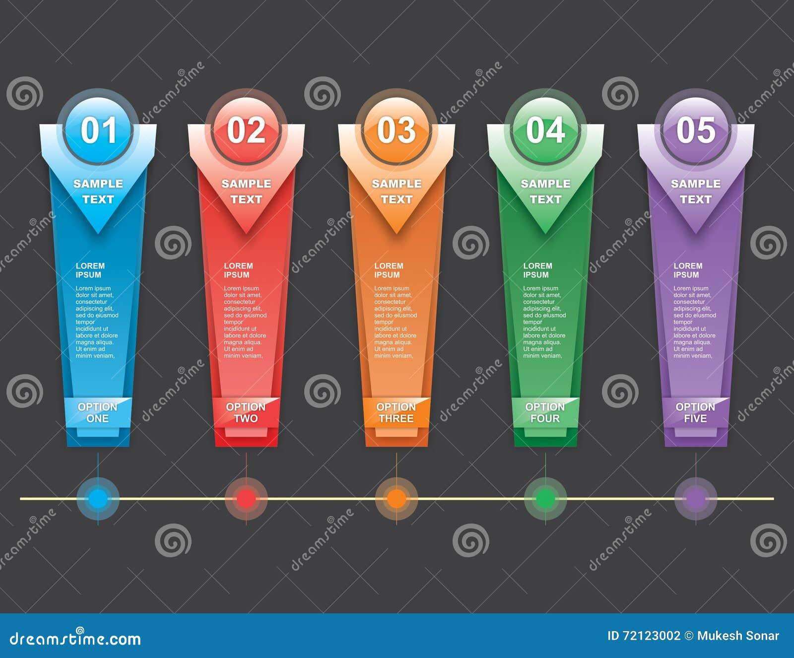 Verticle fa un passo Infographics
