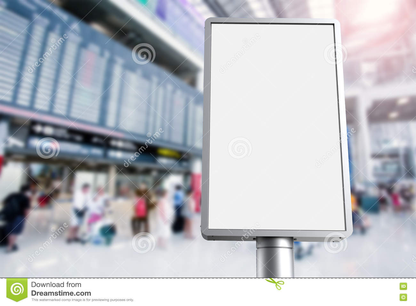 Vertikal affischtavla i flygplats