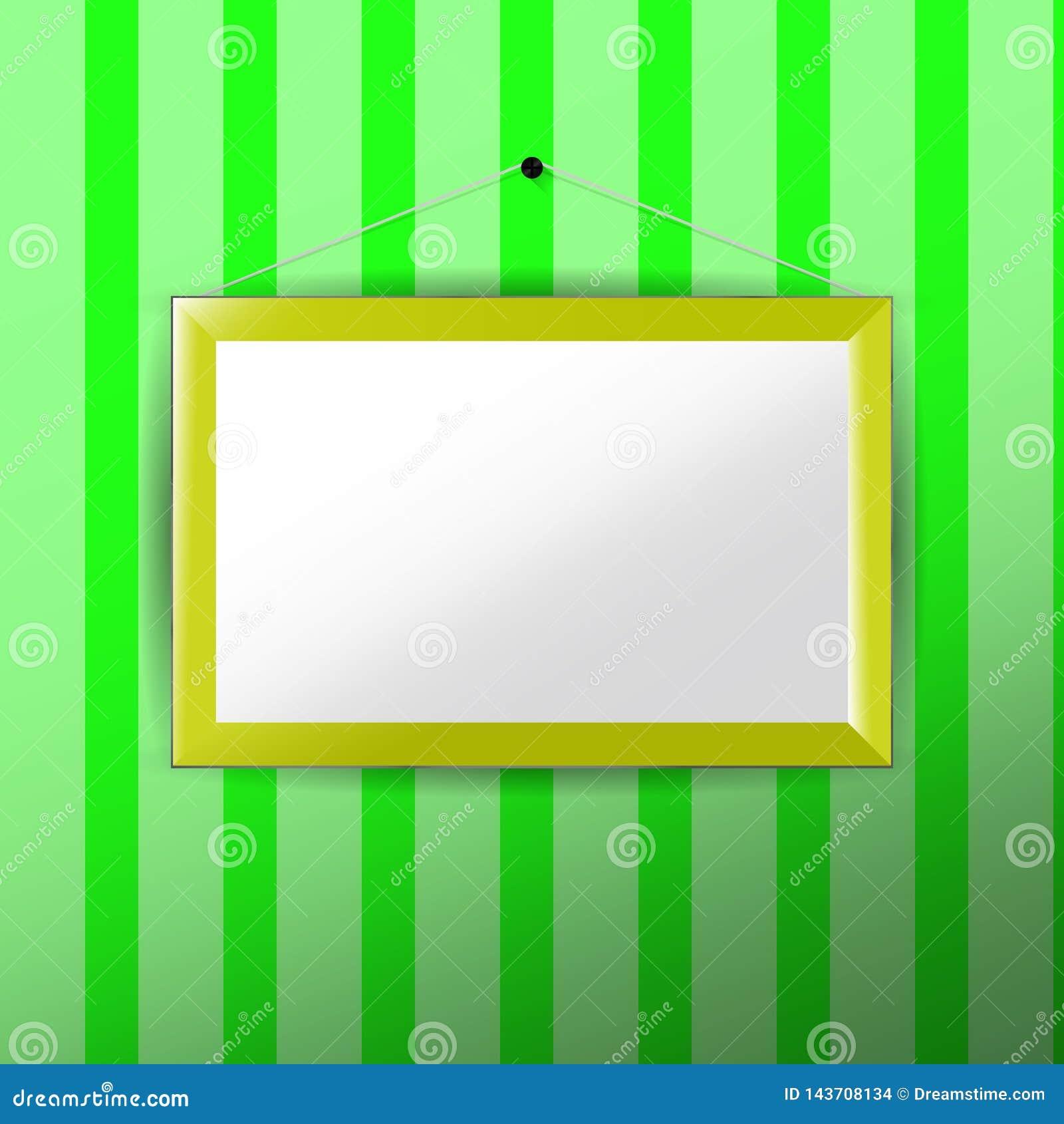 Vertikal fotoram med pappers- passepartout
