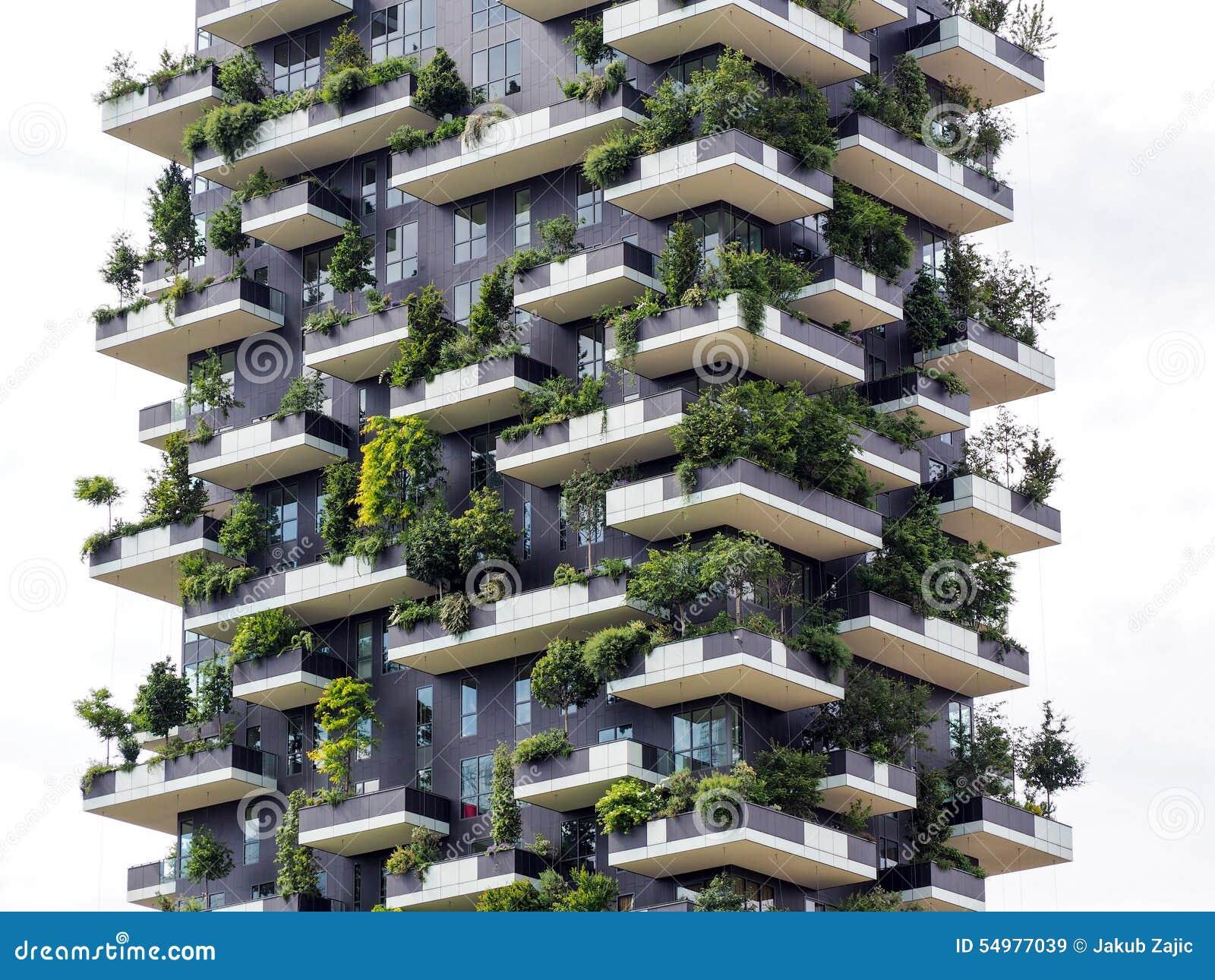 Vertikala skogbyggnader i Milan, Maj 2015