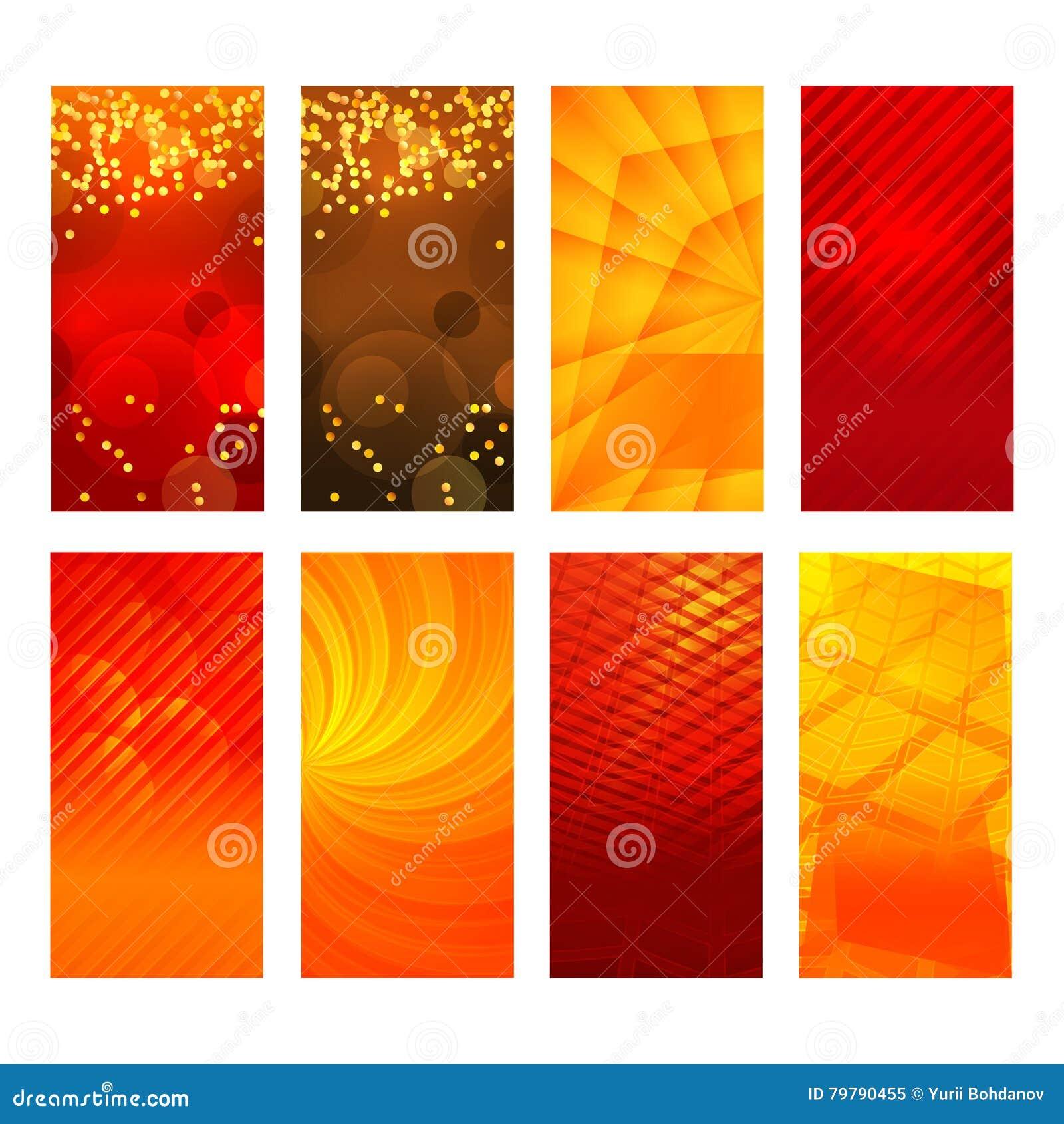 Vertikale Fahnenbühnenbildelementhintergrund-Glühenzusammenfassung