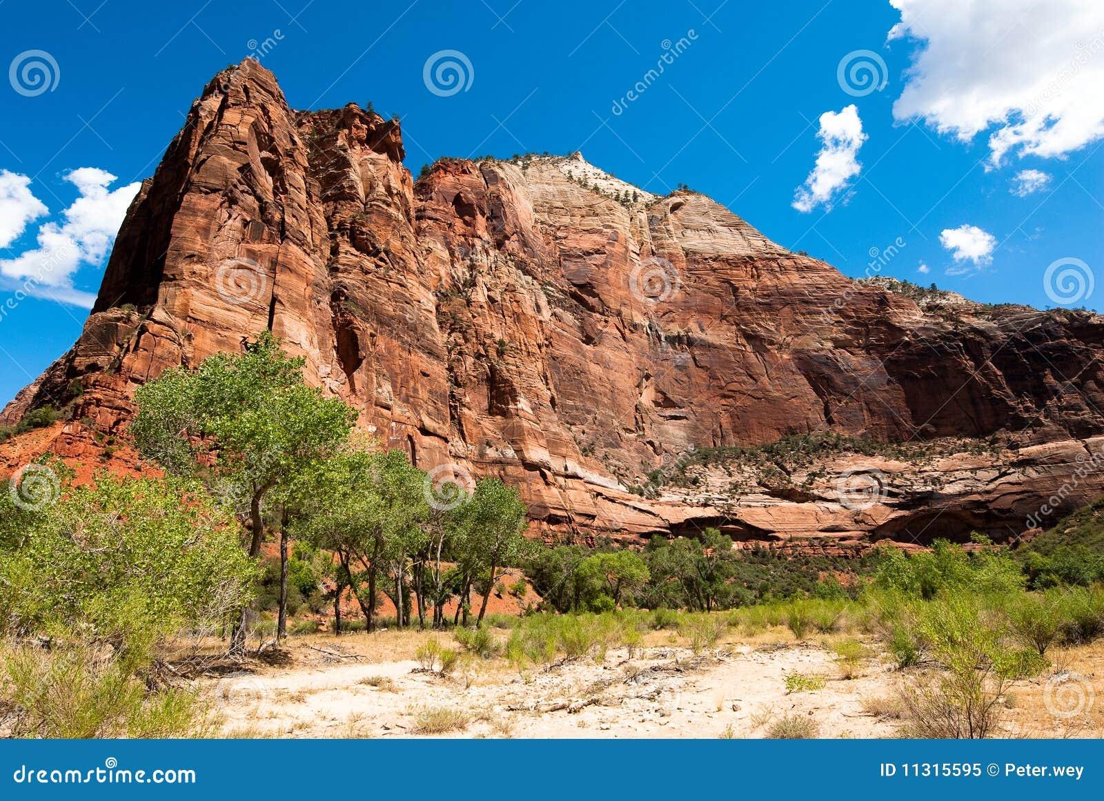 Vertikale Klippen zion im Nationalpark