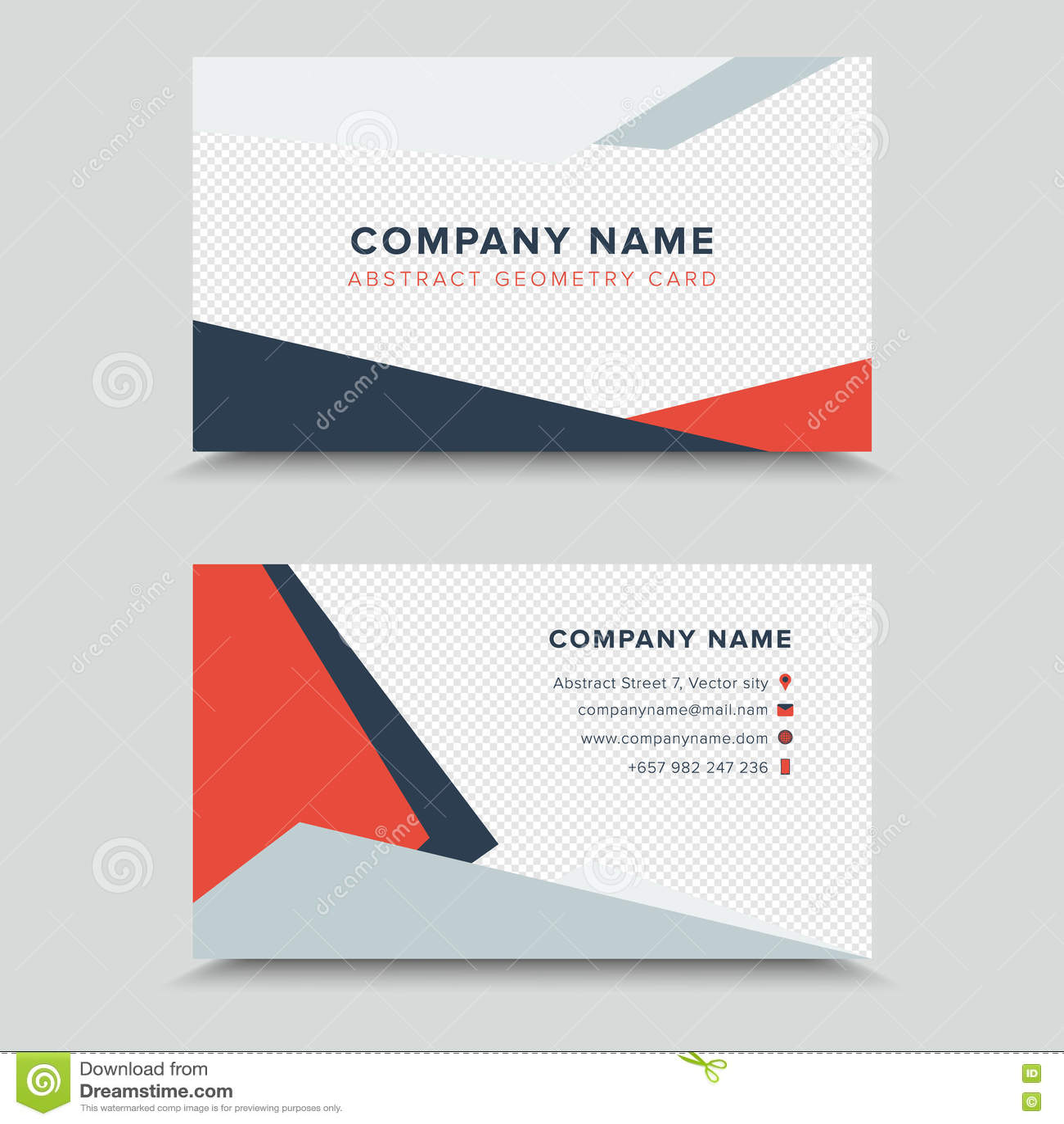 Vertor Visit Card. Business Card Template Design Stock Vector ...