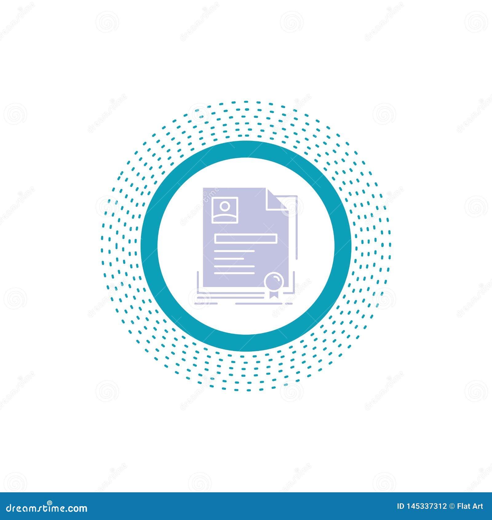 Vertrag, Ausweis, Gesch?ft, Vereinbarung, Zertifikat Glyph-Ikone Vektor lokalisierte Illustration