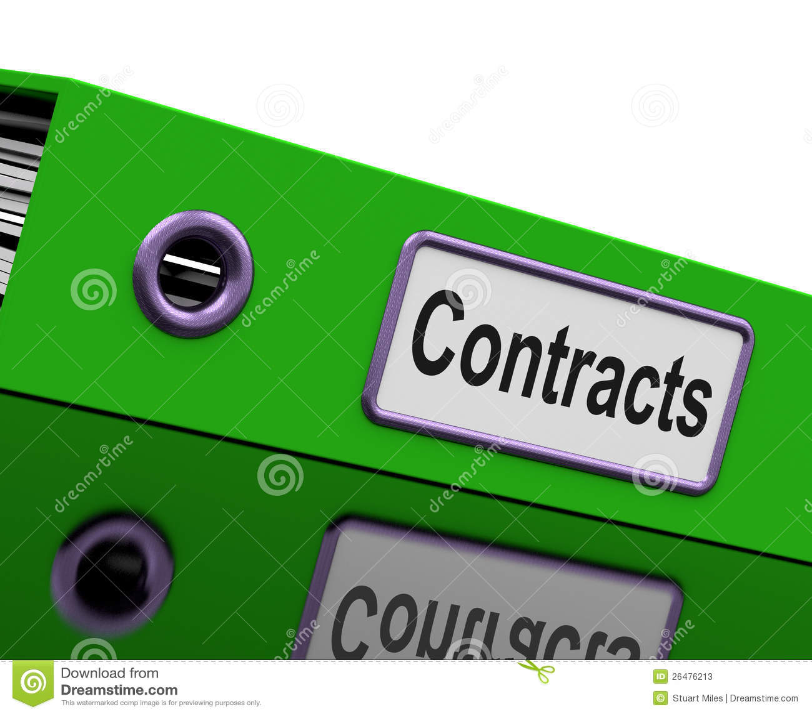 Vertrags-Datei Zeigt Legale Geschäfts-Vereinbarungen Stock Abbildung ...