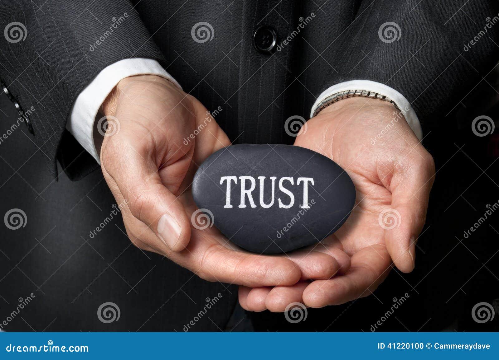 Vertrauen übergibt Geschäftsmoral