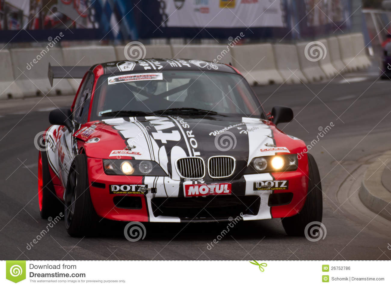 Street Car Racing: Racing Car Editorial Photo