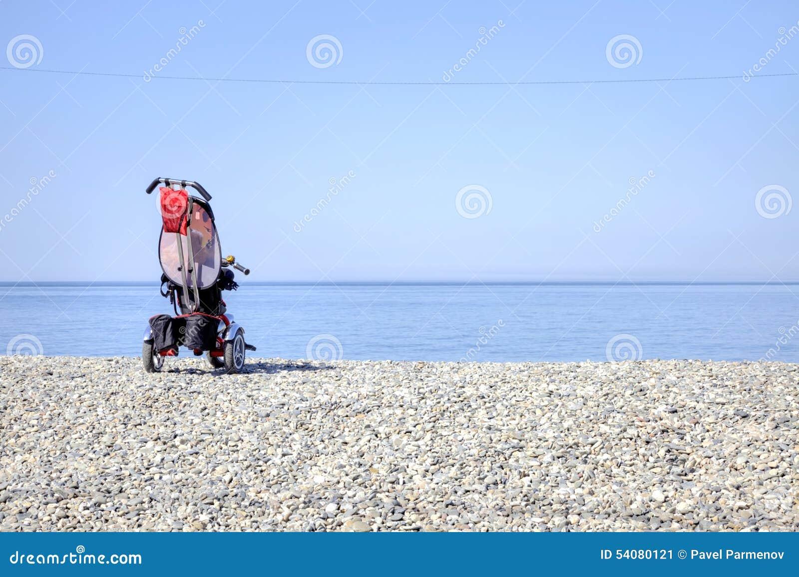 Vervoer op een strand
