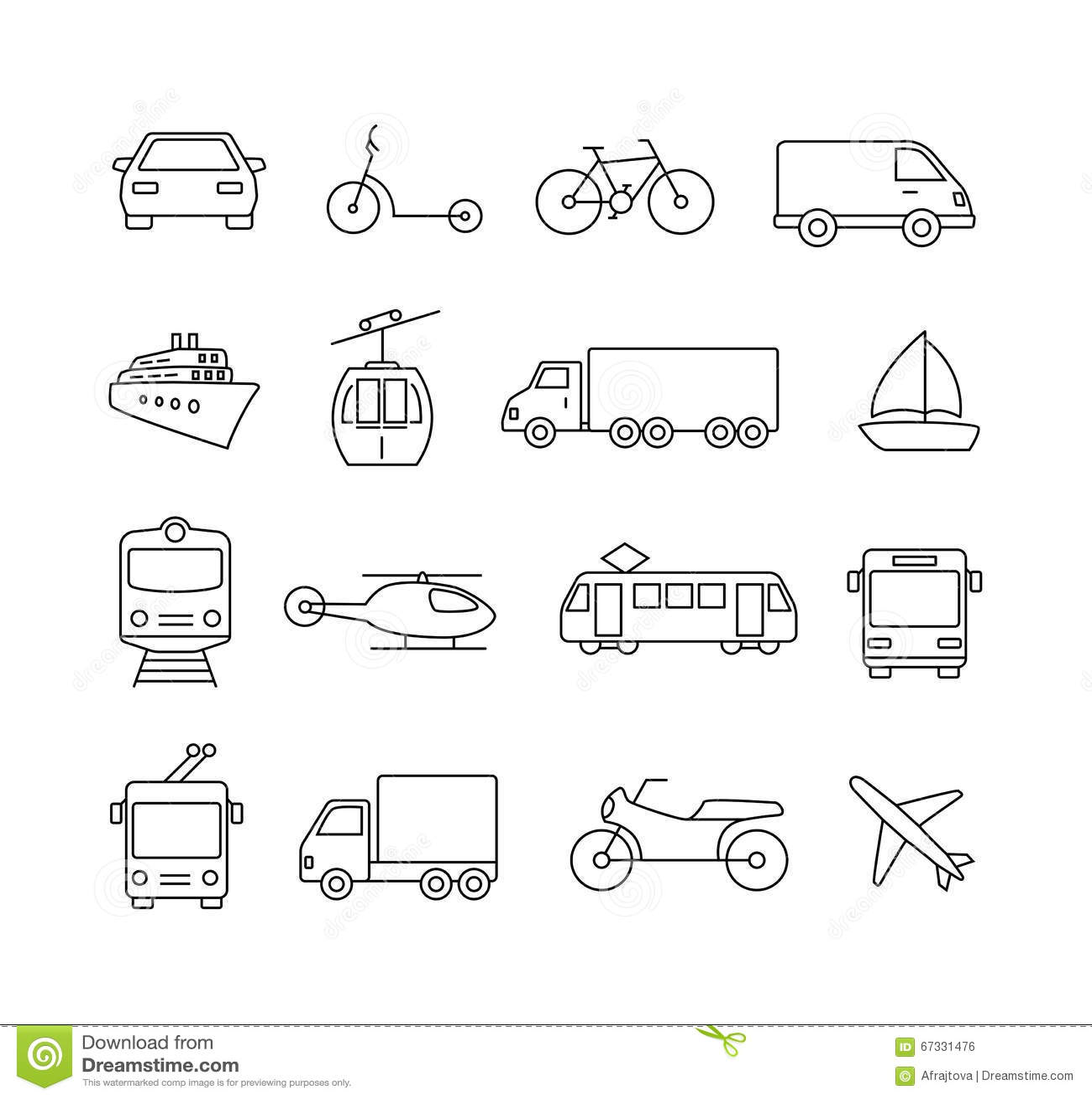 Vervoerpictogrammen - Reis