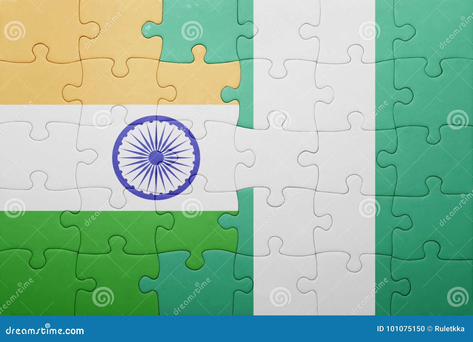 Verwirren Sie mit der Staatsflagge von Indien und von Nigeria