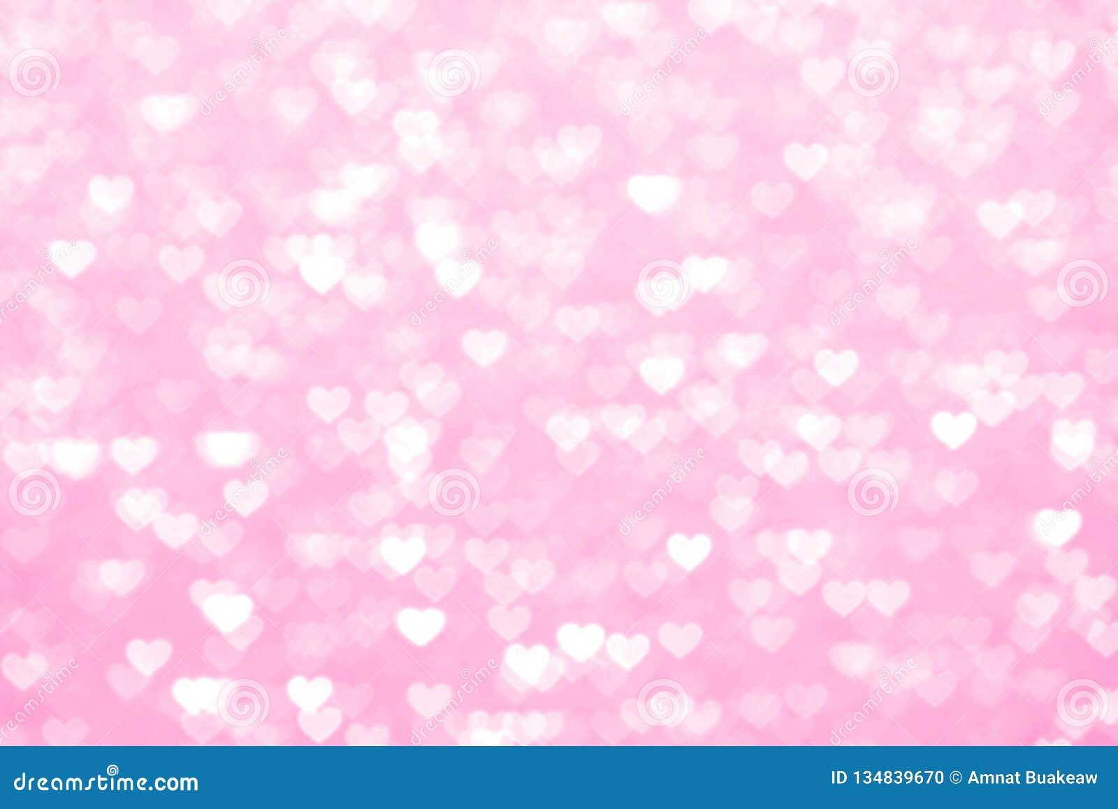 Verwischen Sie schönes romantisches des Herzrosa-Hintergrundes, weiches Pastellfarberosa des Funkeln bokeh Lichtherzens, buntes R