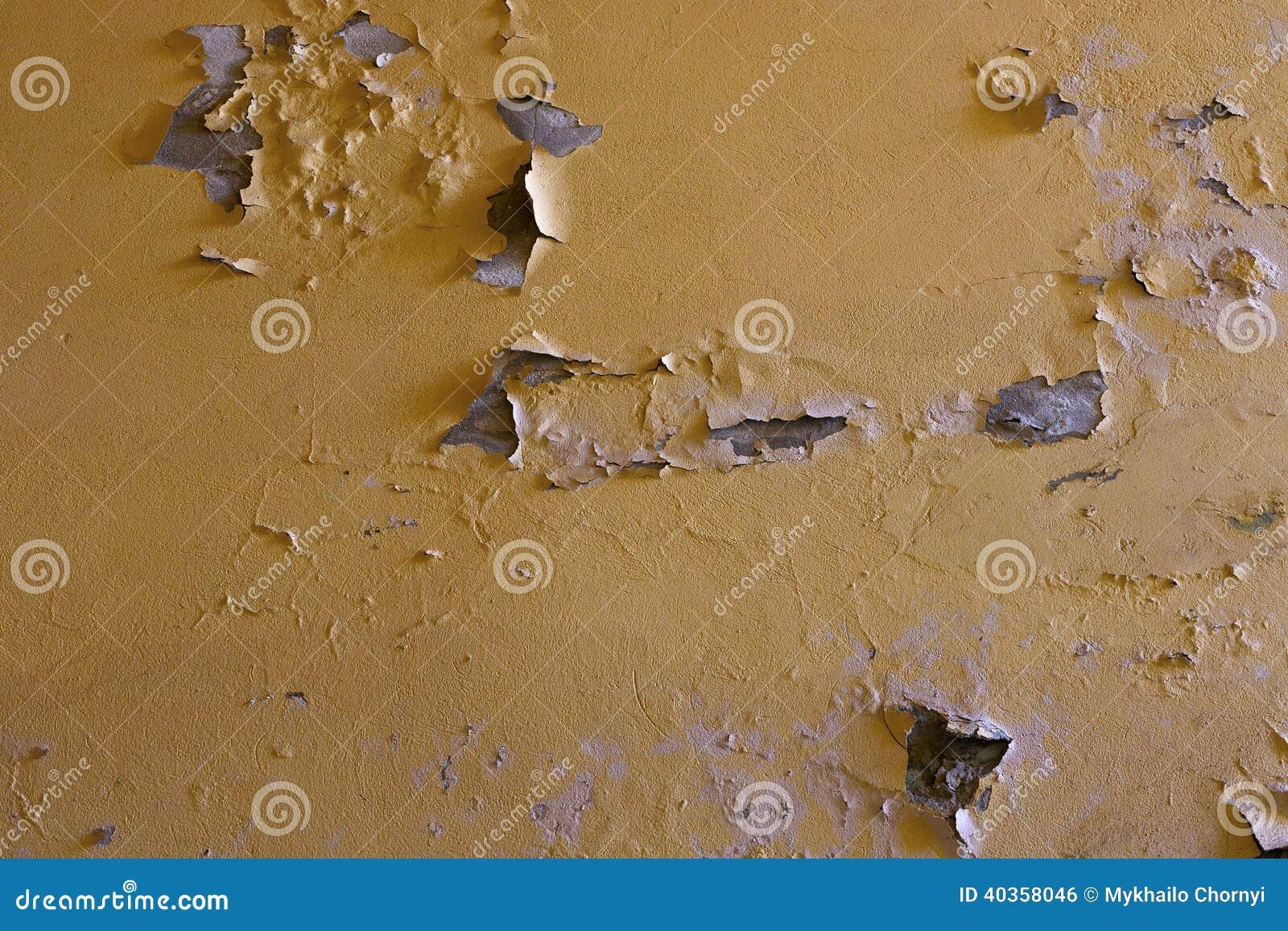 Top Verwitterte Gelbe Wand Mit Flecken Stockfoto - Bild von flecke LL23