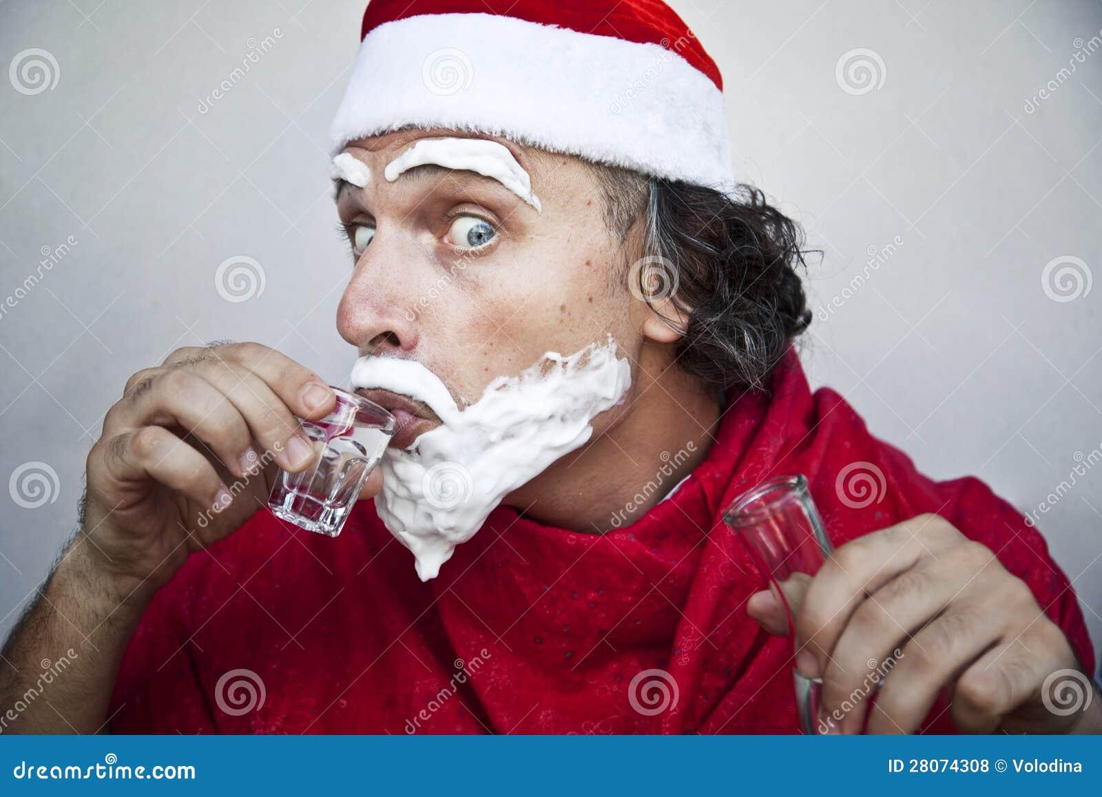 Very bad santa claus royalty free stock photos image
