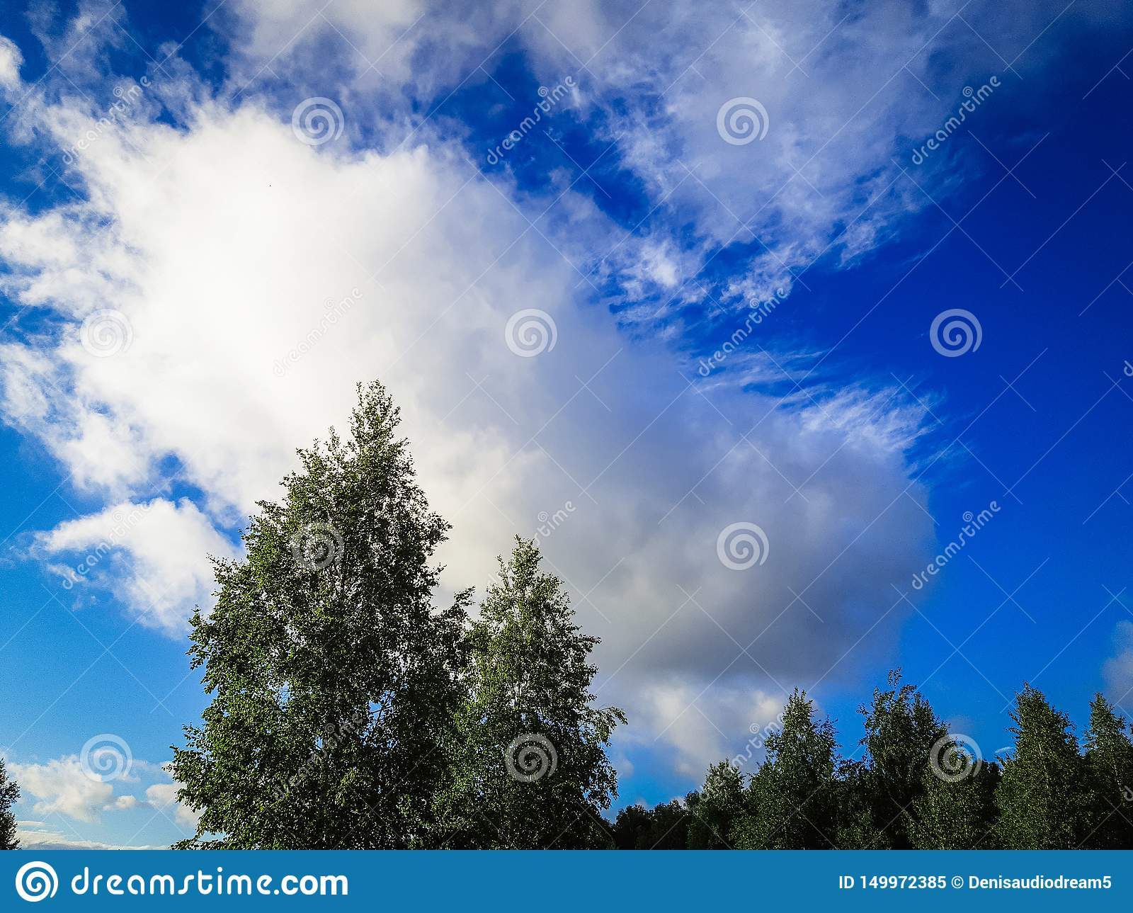 Very beautiful blue sky with clouds