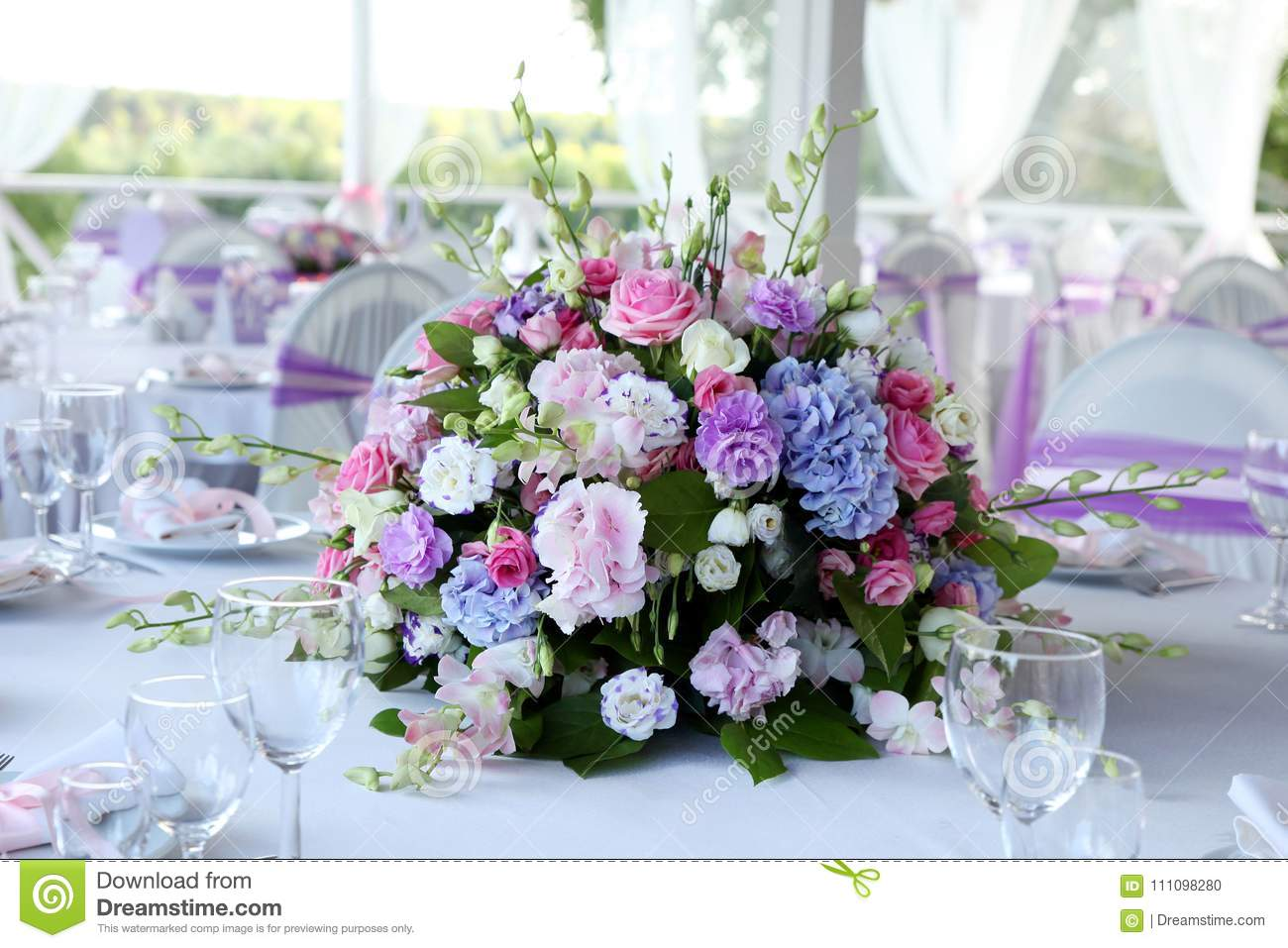 Very Beautiful Bouquet Of Flowers For Wedding Celebrations Stock