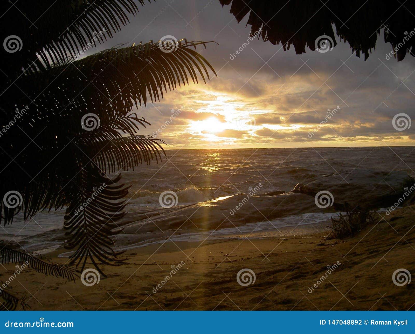 Very Beautiful sunset in Liberia,Africa