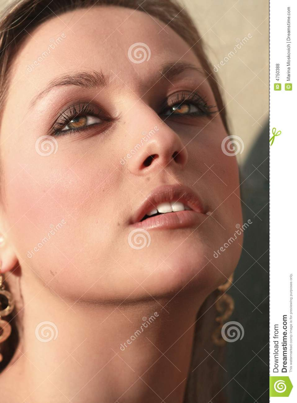 Very Beautiful Blond Teen Girl With: Very Beautiful Woman Face Stock Photo. Image Of