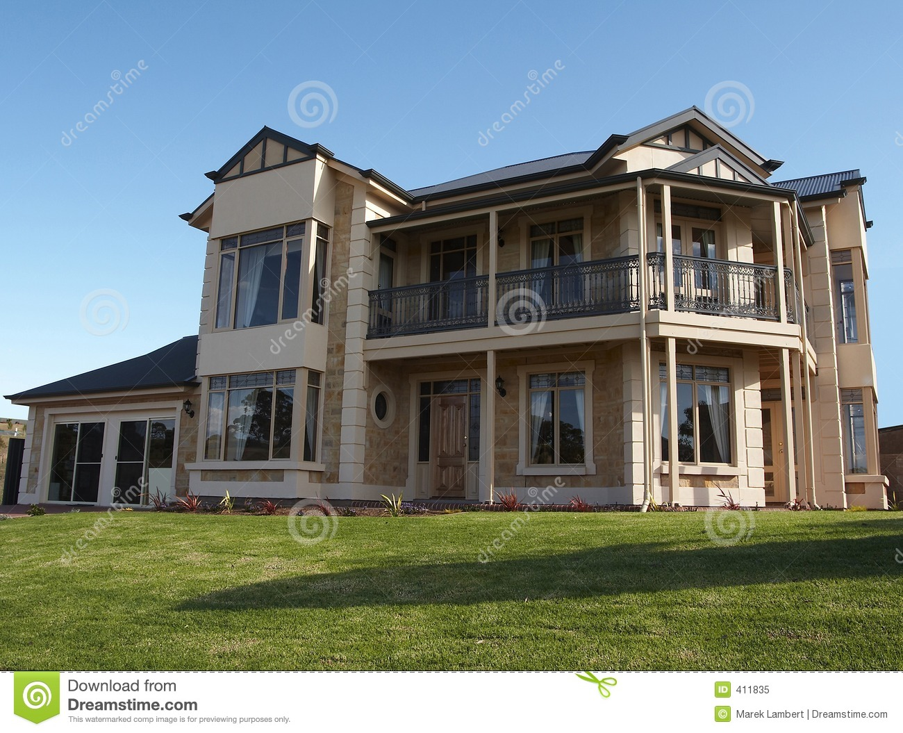 Very Big 2 Storey House Royalty Free Stock Photo Image