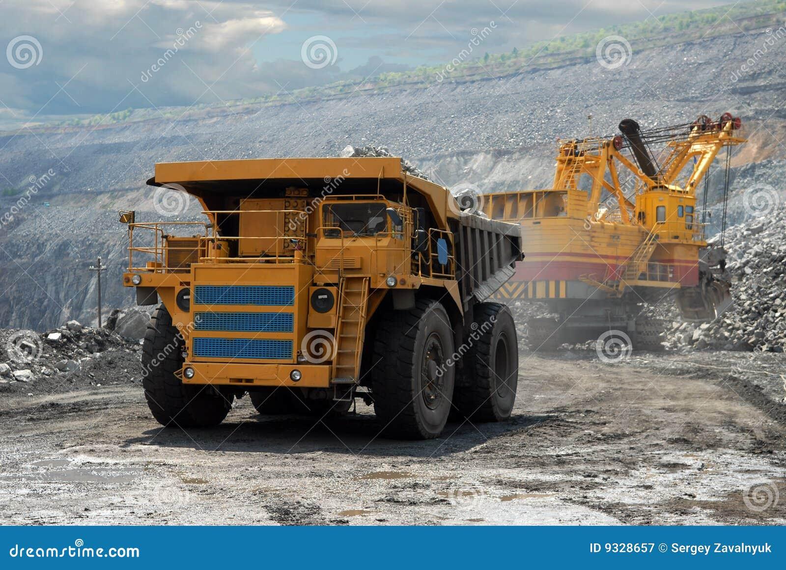 Very Big Dump Body Truck On White 3d Illustration Royalty