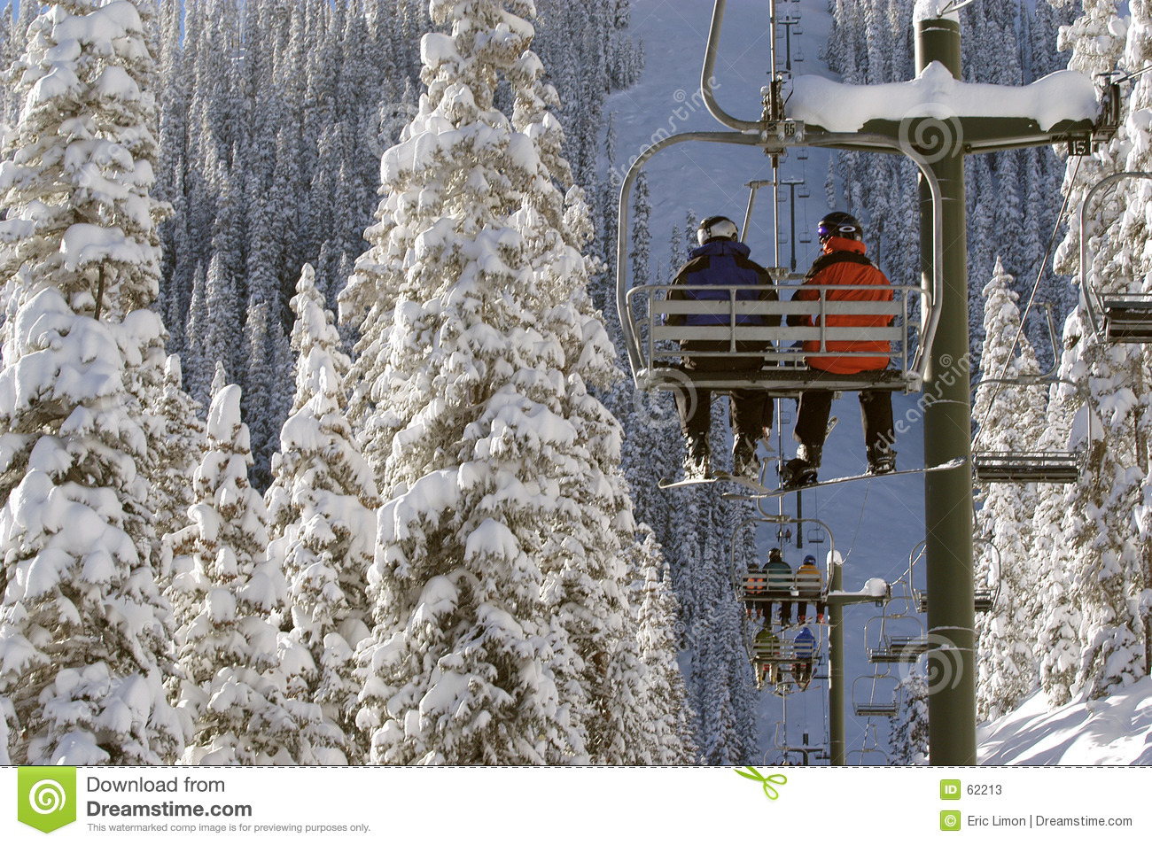 Very cold chairlift