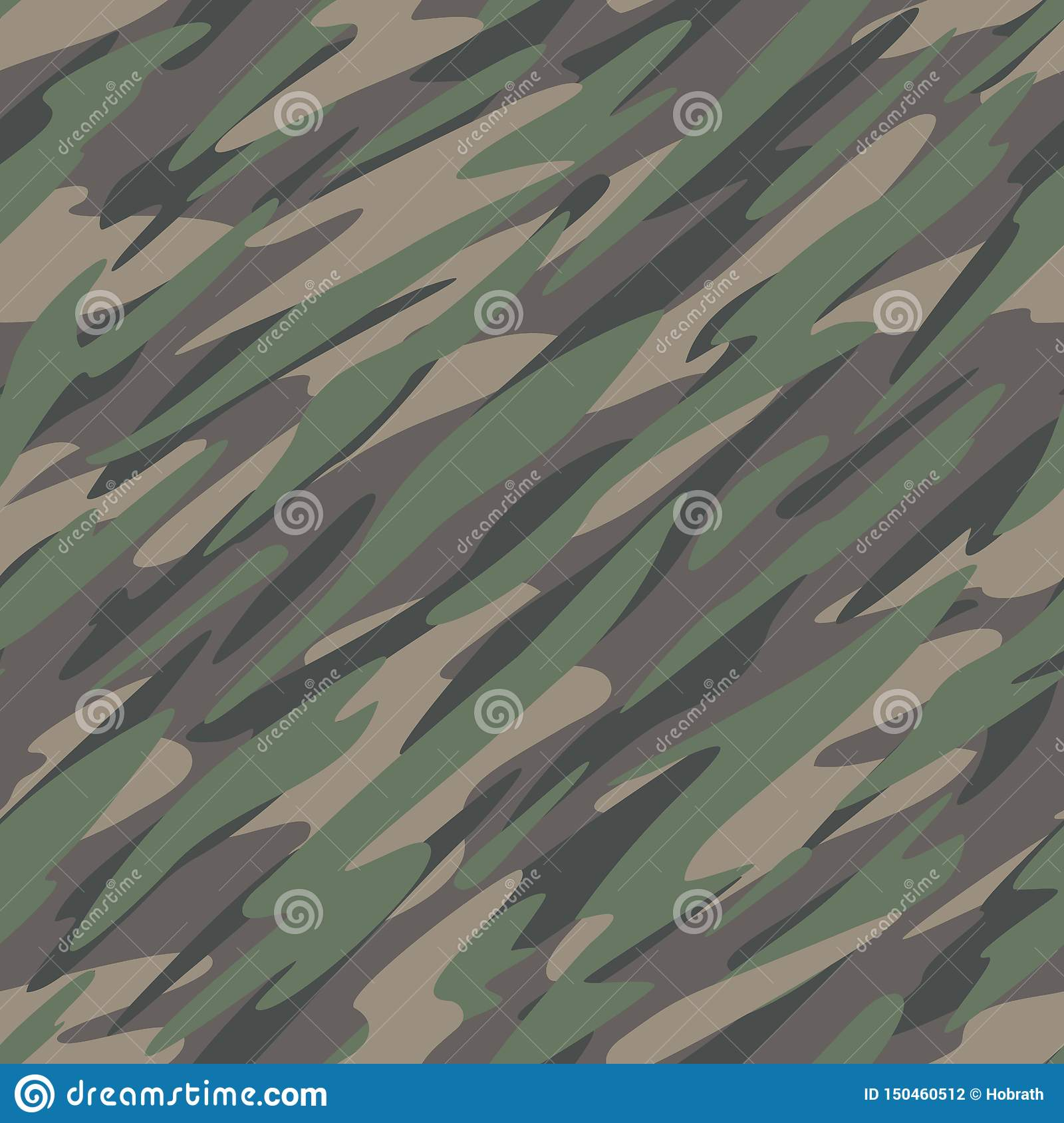 Forest / Jungle Camouflage Abstract Seamless Repeating Pattern Vector Illustration