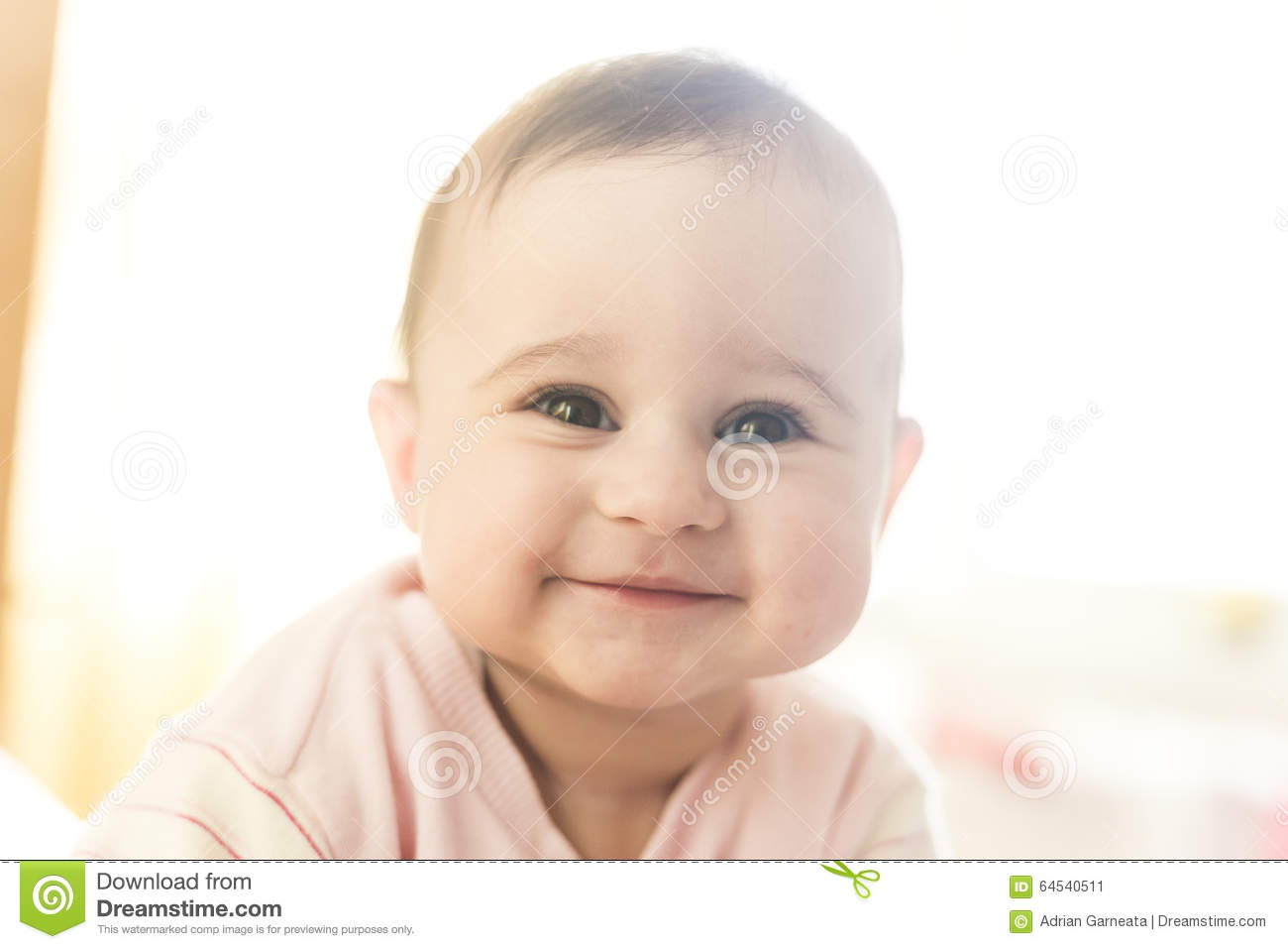 Very Cute Baby Girl Smiling Stock Image Image Of Smiling Very