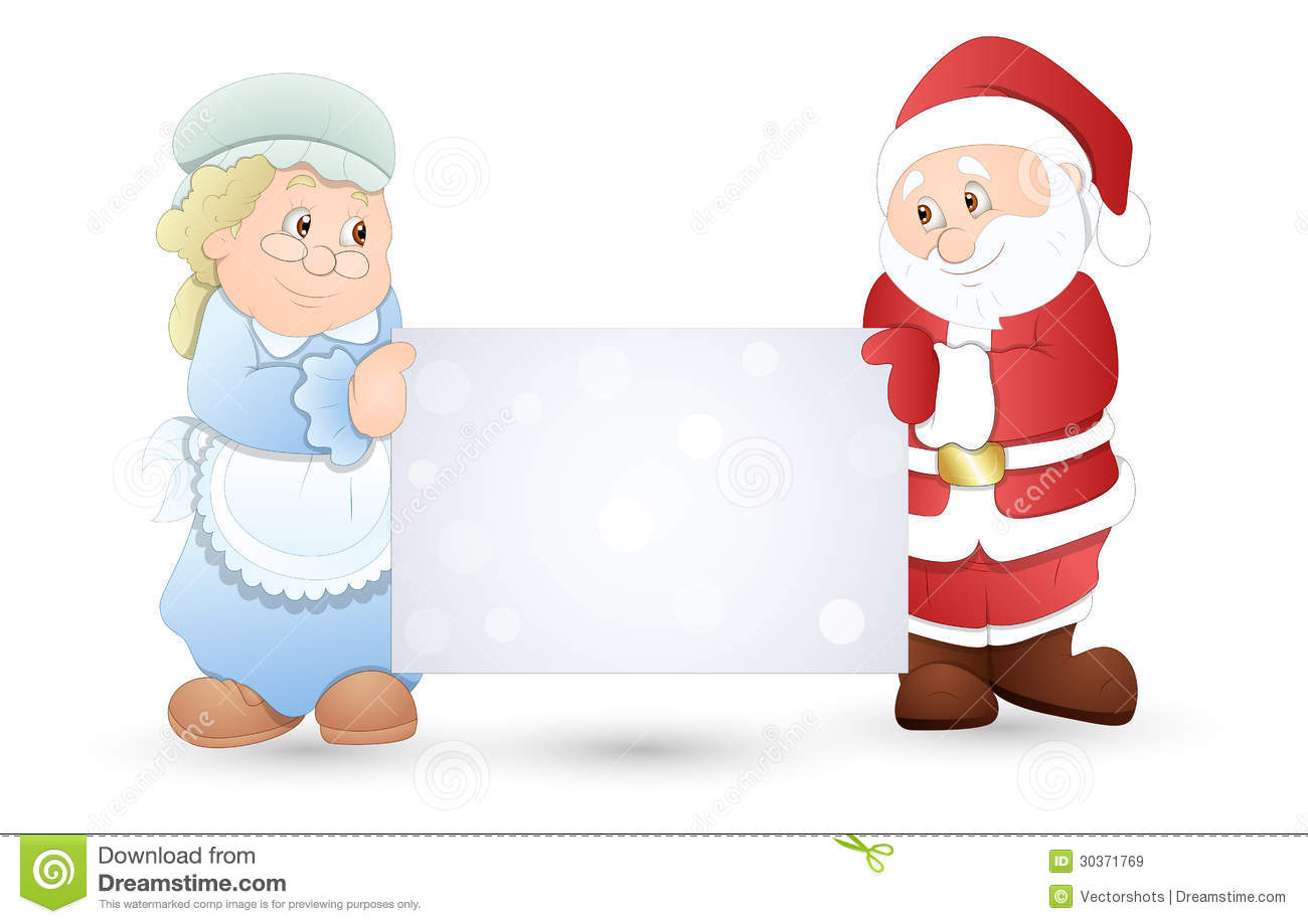 very cute couple christmas vector illustration