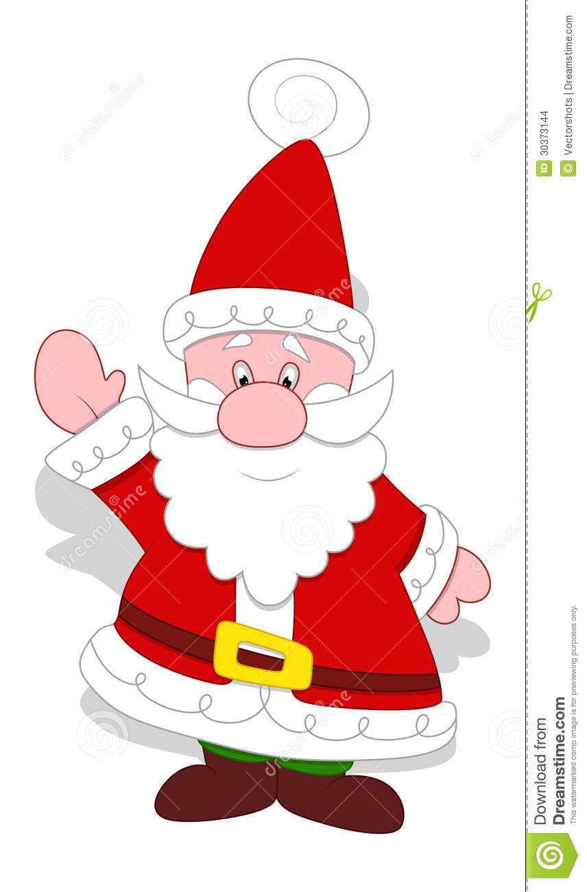 Very Cute Santa Claus Vector Stock Images Image 30373144