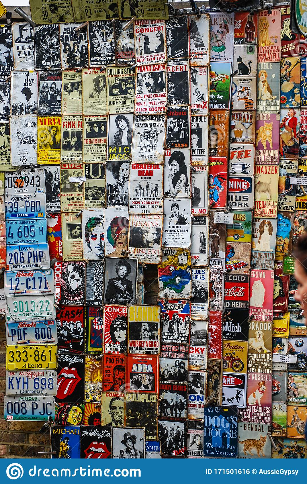 Wall Covered In Old Movie And Music Posters Editorial Photo Image Of Theatre Movie 171501616