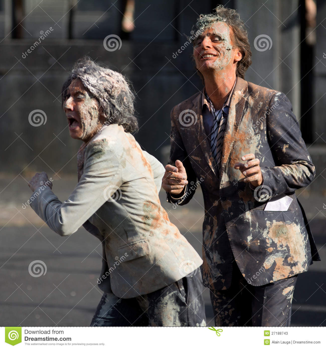 Download Very Dirty Actors In The Street Editorial Stock Photo - Image of dancer, festival: 27188743