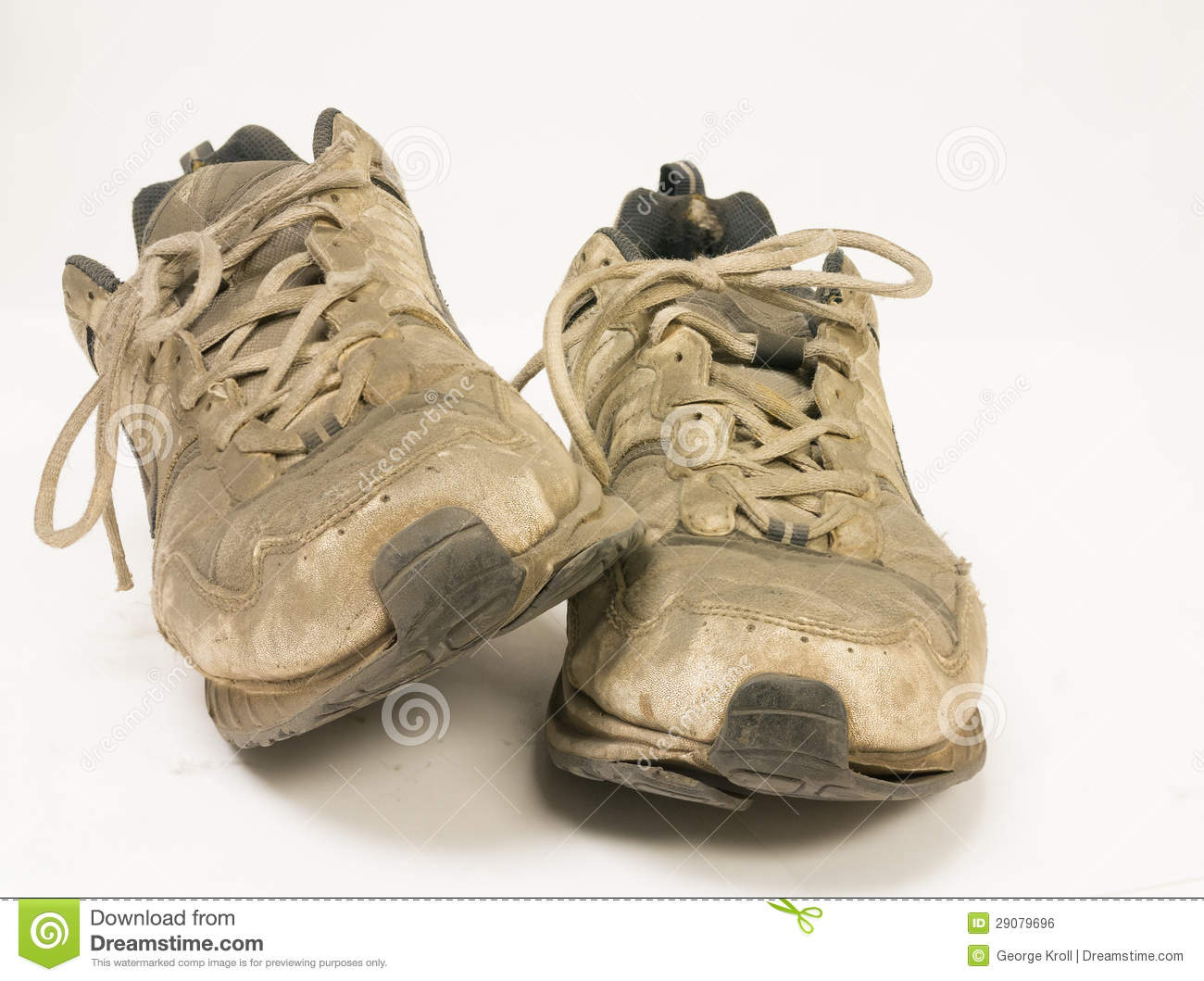 Very Dirty Pair Of Running Shoes Royalty Free Stock Image - Image ...