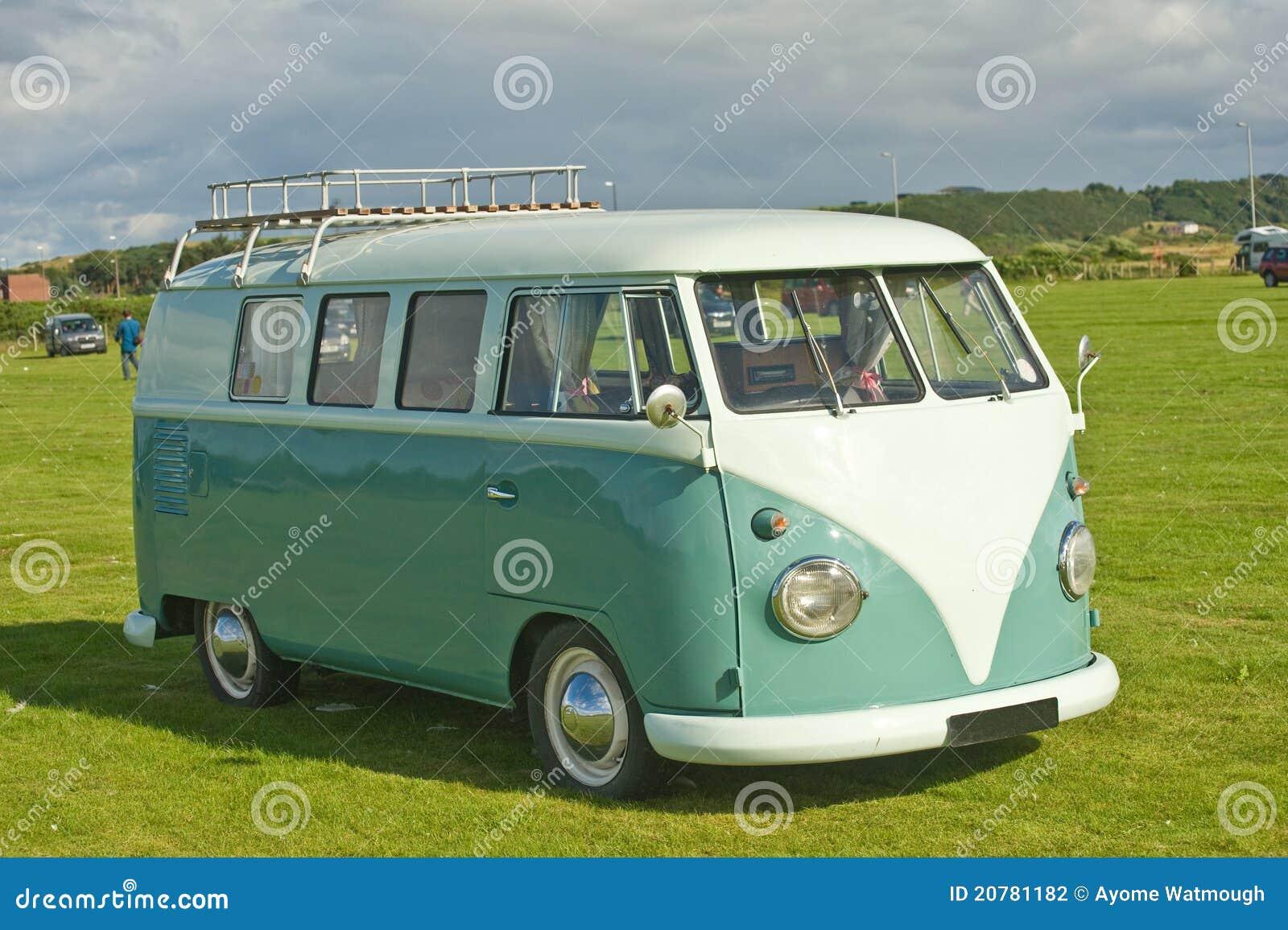 Very early VW sleeping van.