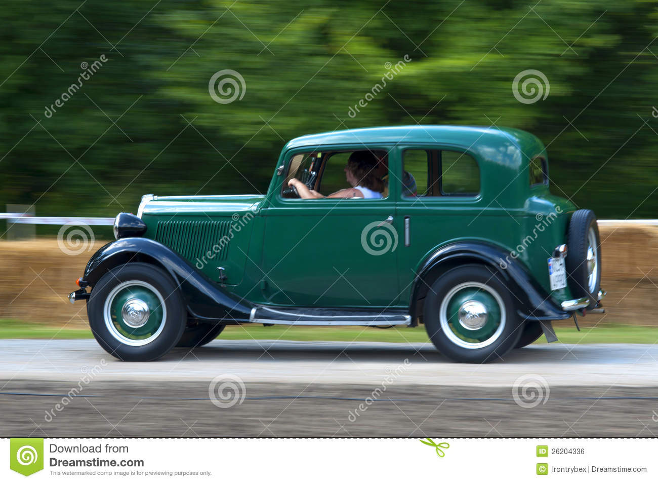 Very fast old car editorial photo. Image of restored - 26204336